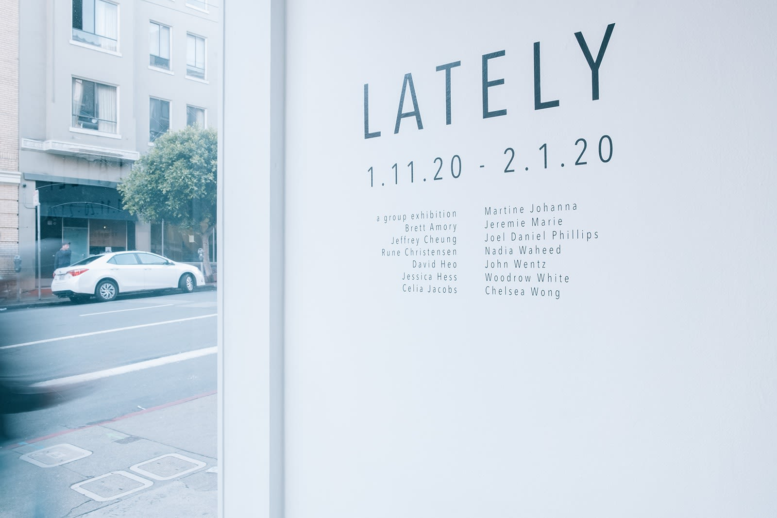 """Lately"" wall vinyl"