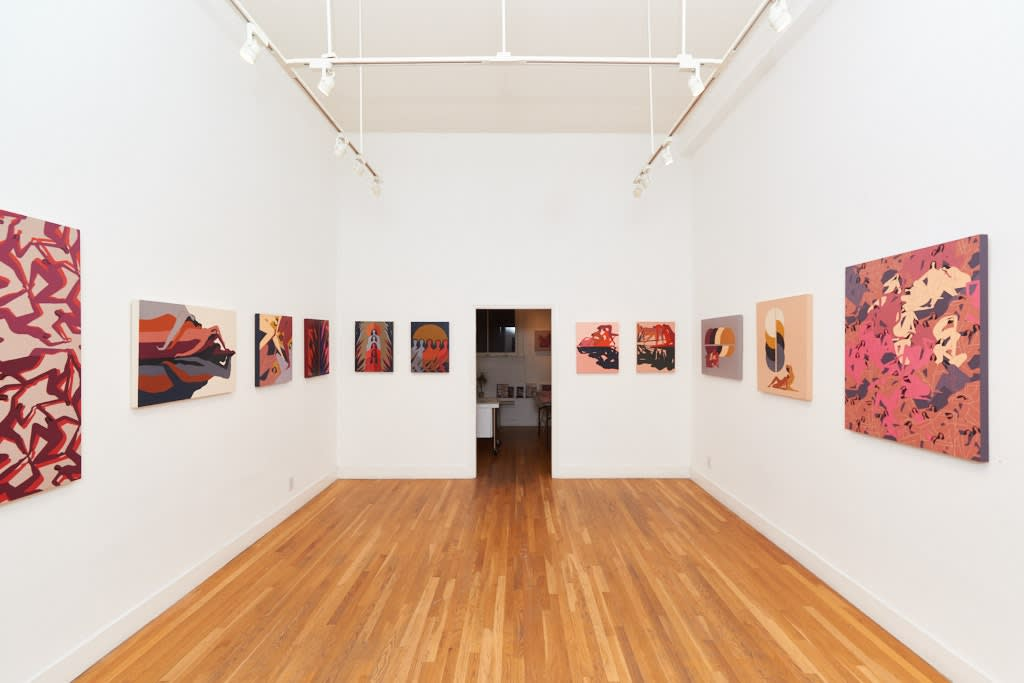 Installation view of Laura Berger solo show in SF