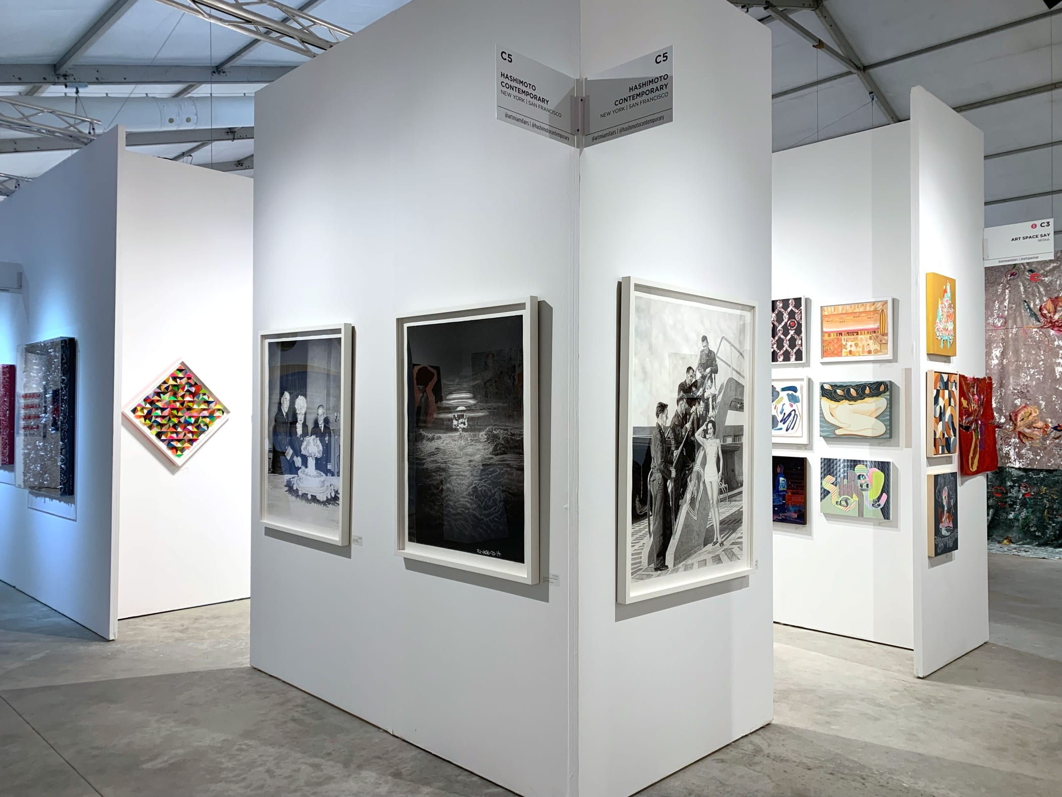 Hashimoto Contemporary booth at CONTEXT Art Miami