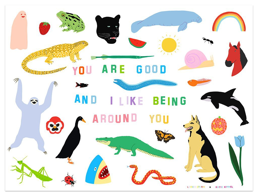 "Print Release: Katie Kimmel & Lorien Stern ""You Are Good"" variant print"