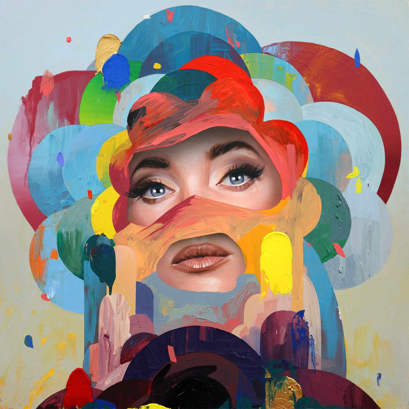 "Erik Jones ""Flower"" print"