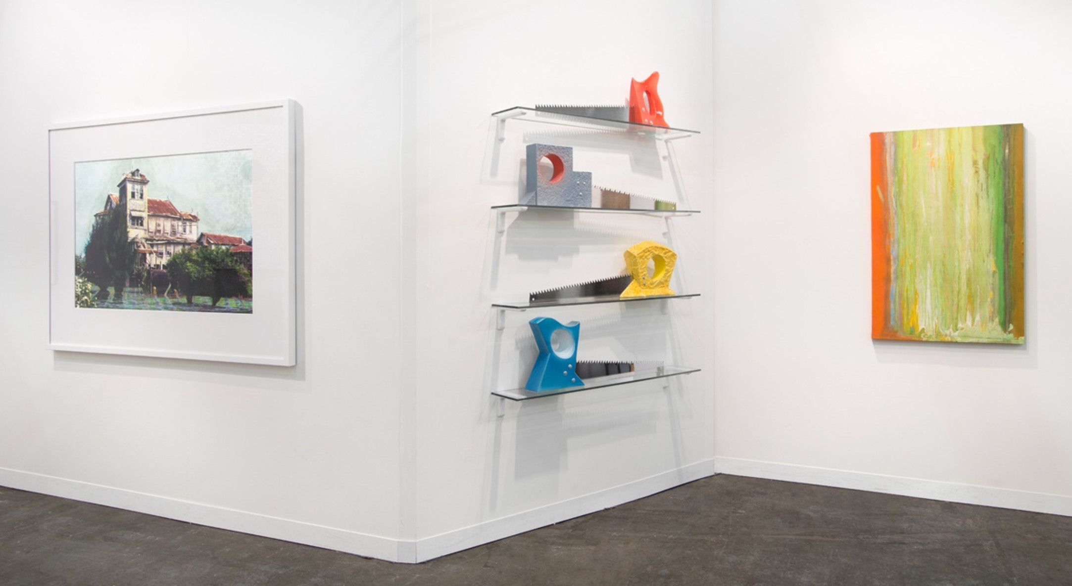 Installation view of Hales Gallery booth at The Armory Show 2015
