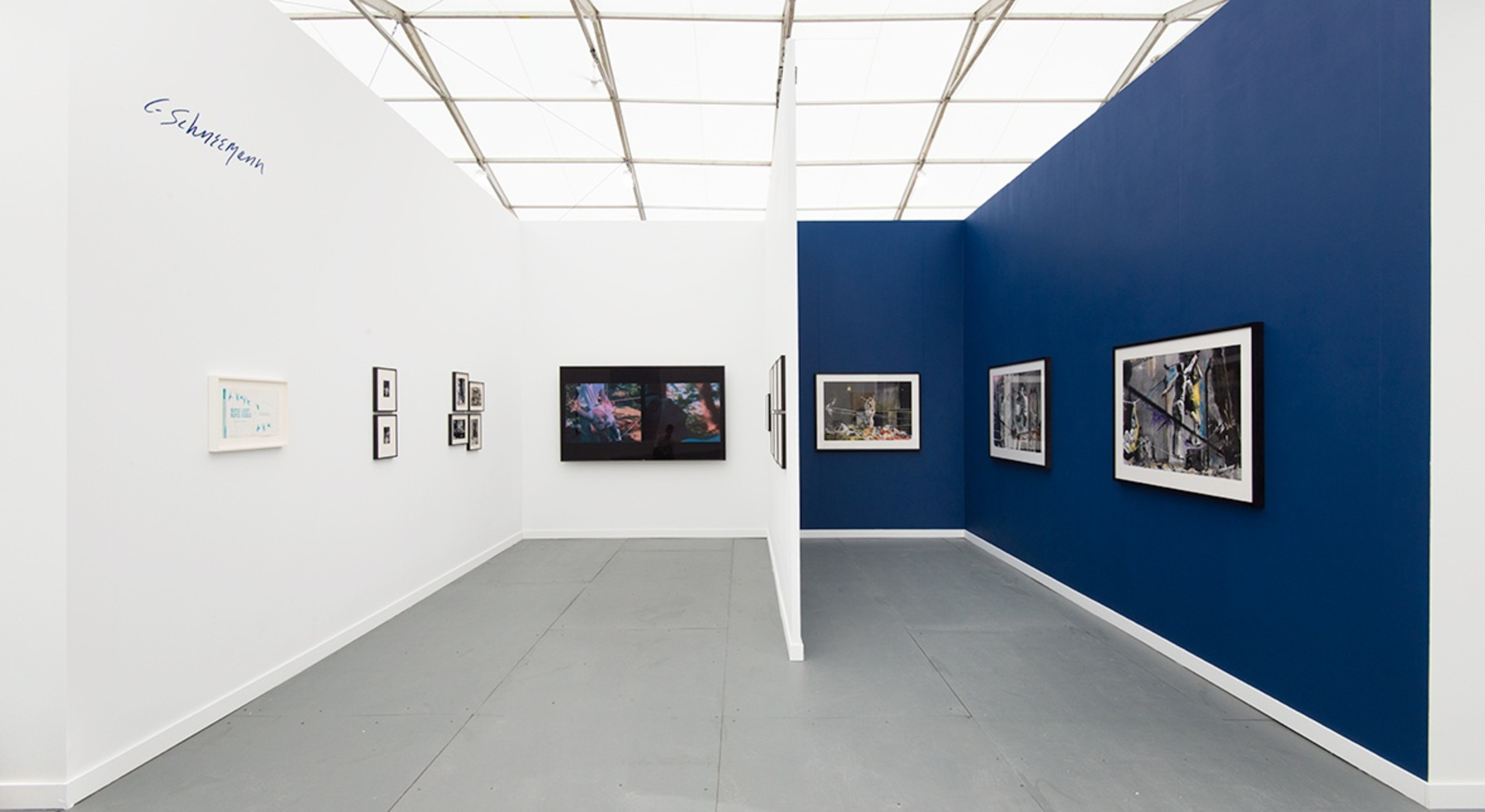 Installation view of Carolee Schneemann at Hales Gallery Booth (Spotlight) at Frieze New York 2015