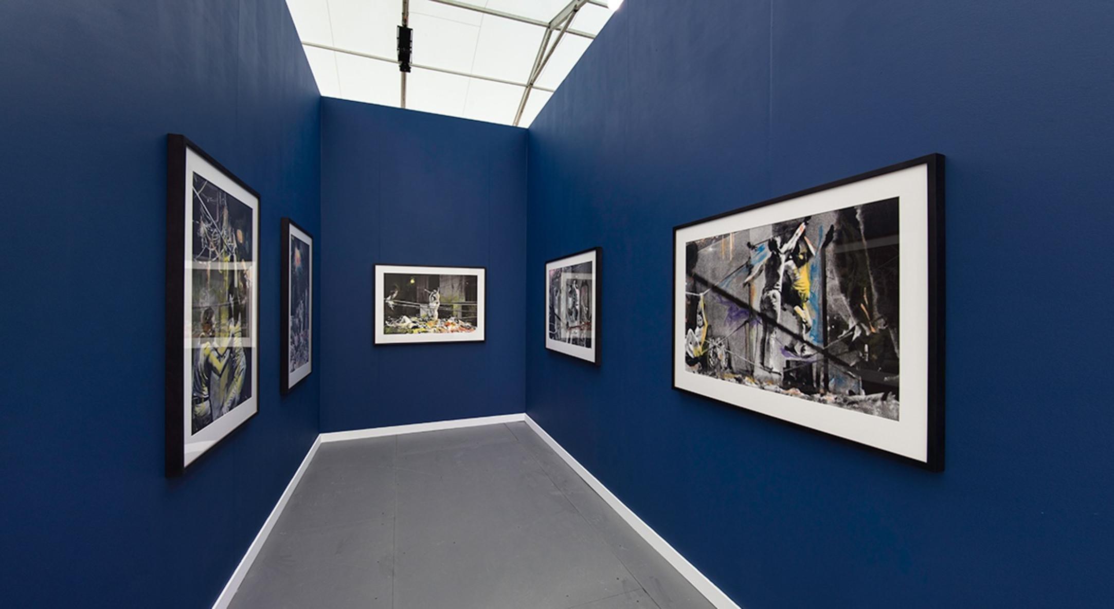 Installation view of Carolee Schneemann at Hales Gallery Booth (Spotlight) at Frieze New York 2015