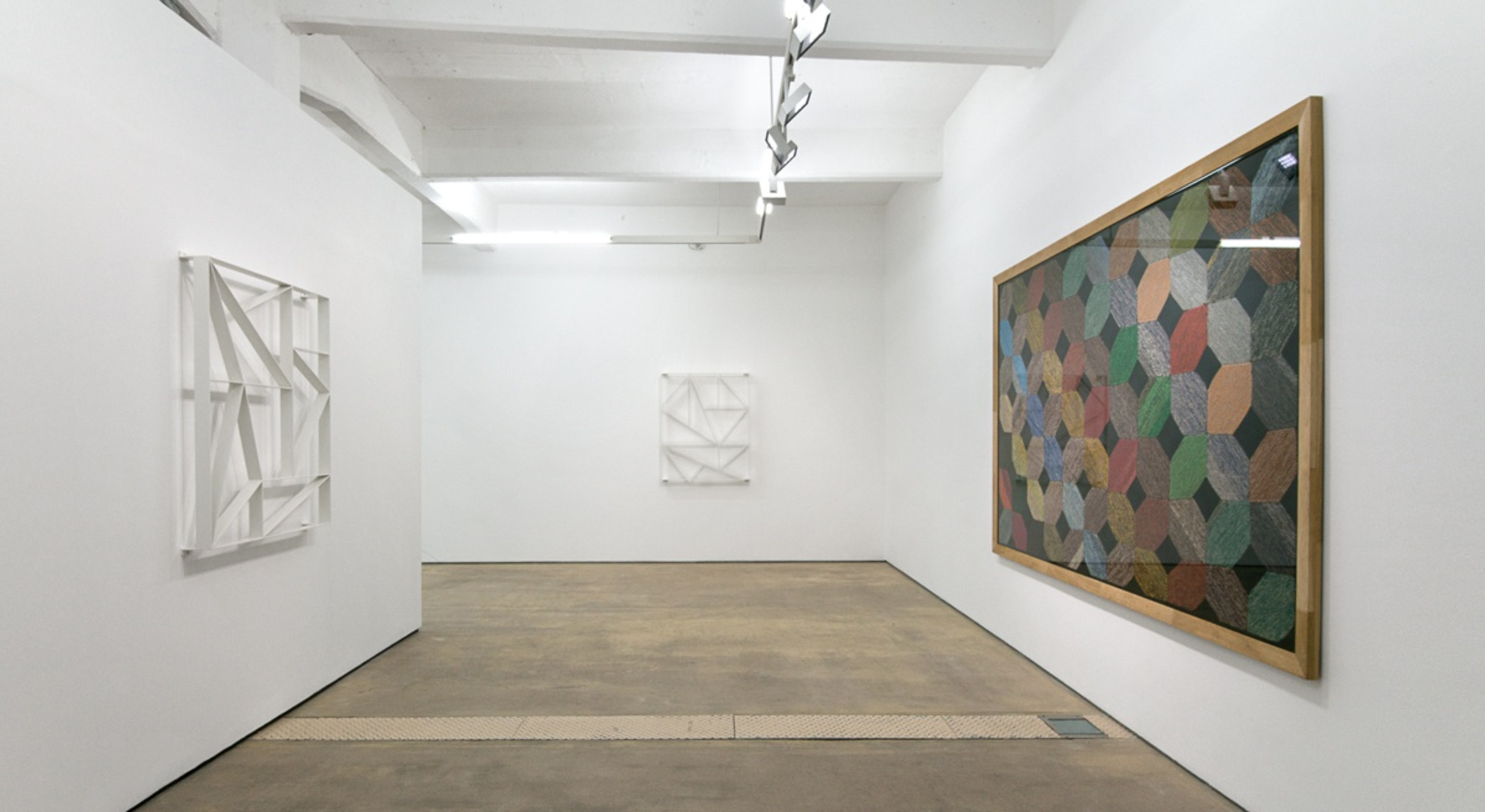 Installation view of Daniel Robert Hunziker, Thinking Things & You at Hales London