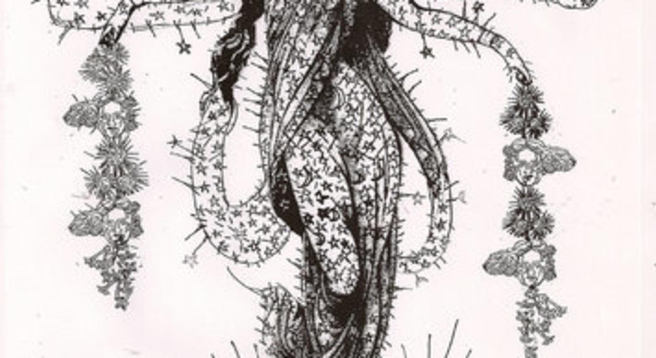Hew Locke, early sketch for Selene