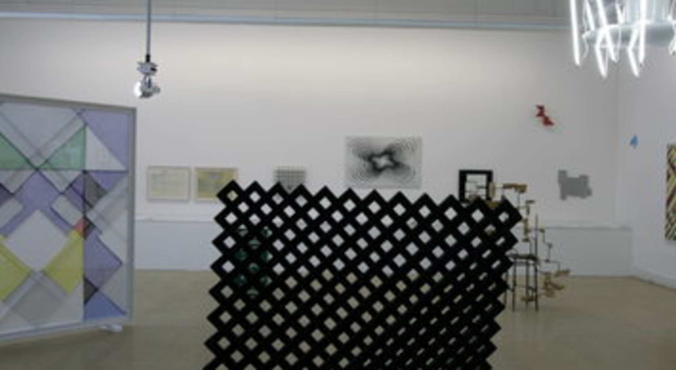 Installation view of Construction & its Shadow curated by Andrew Bick at Leeds Art Gallery