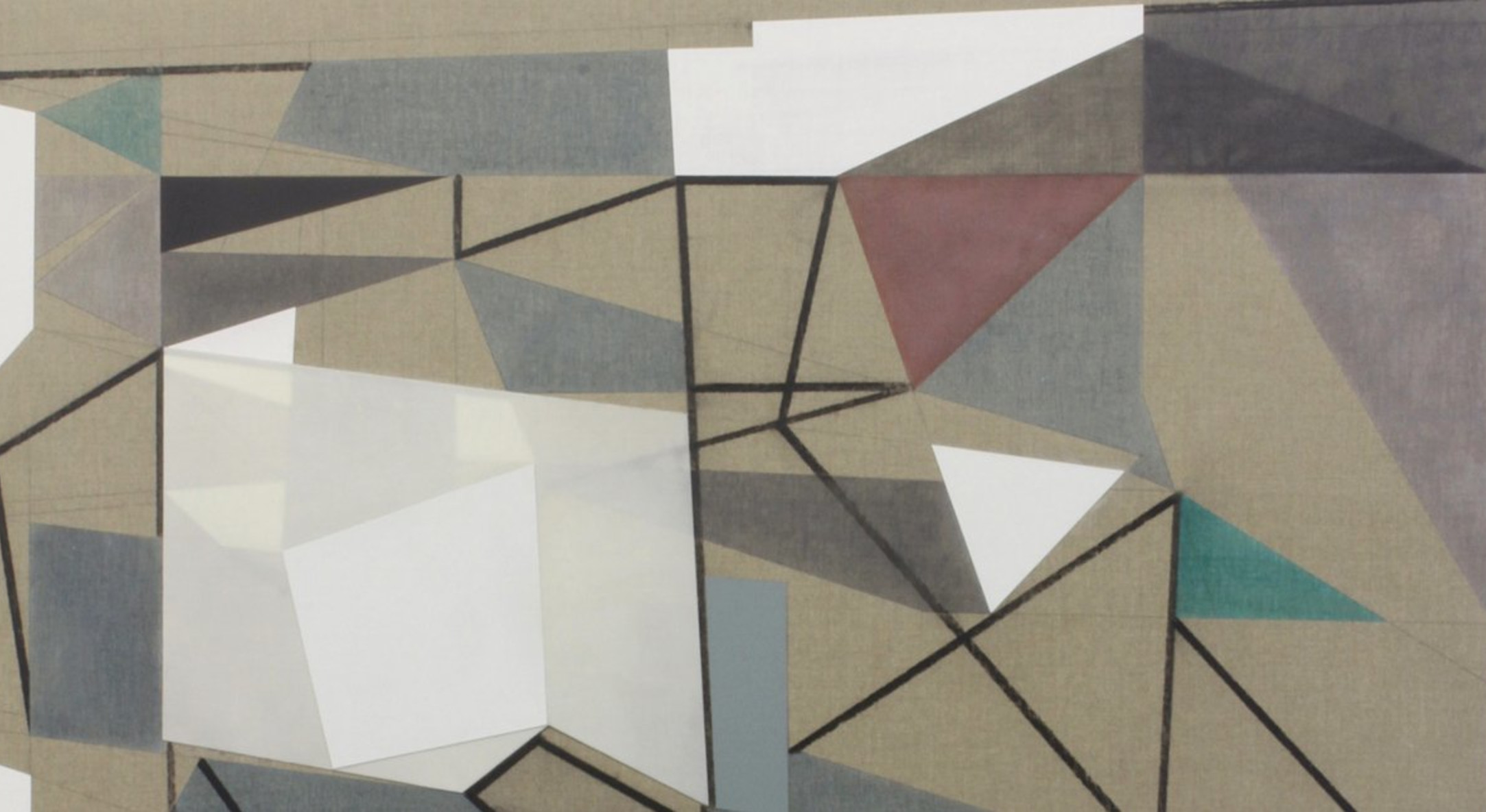 Detail of Andrew Bick, Exit Variant [tilted] A, 2012, Acrylic, charcoal, pencil, oil, and wax on linen on wood, 138 x 122 cm, 54 3/8 x 48 1/8 in
