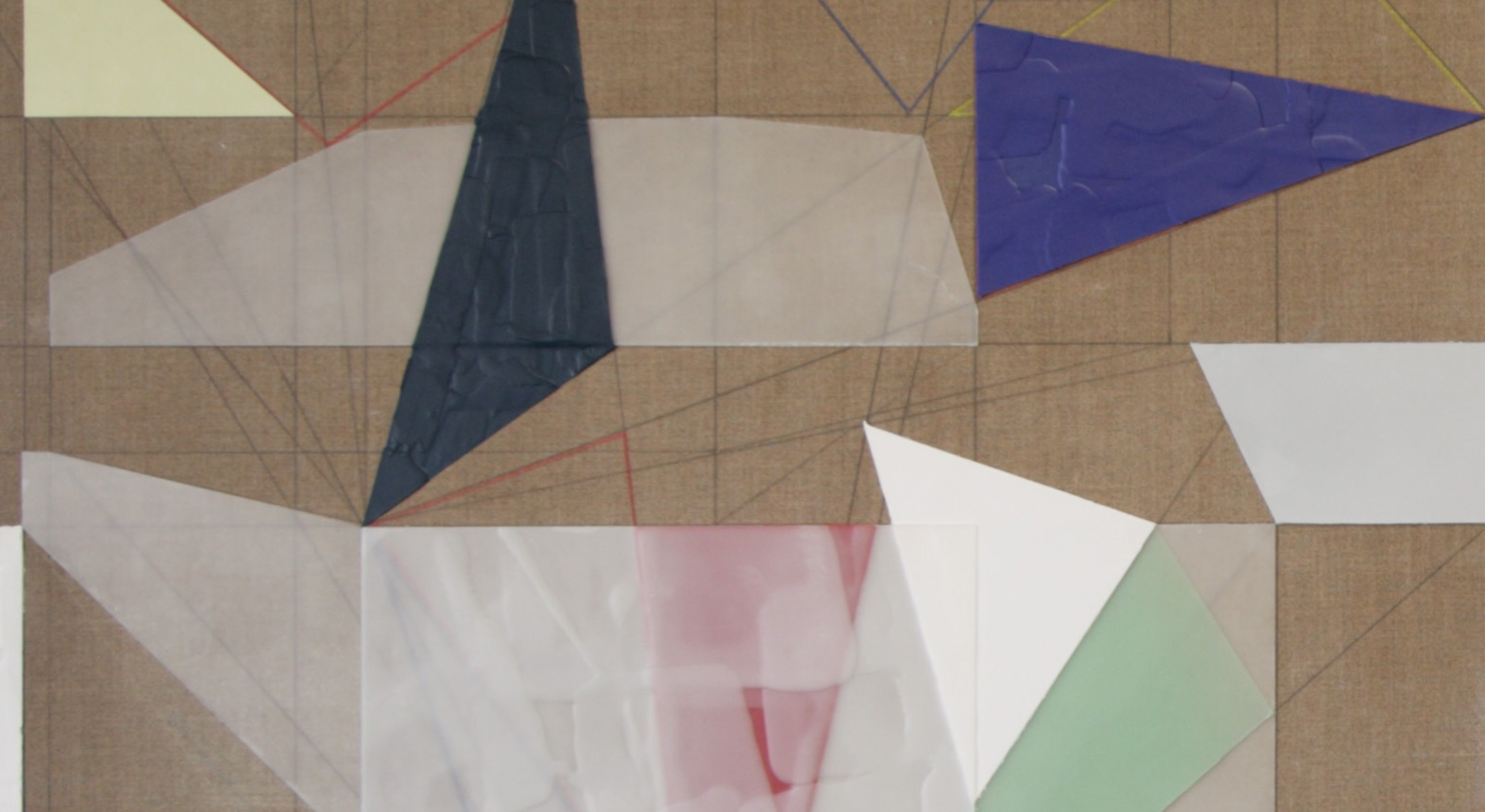 Detail of Andrew Bick, OGV [Mirror/Shift] (small version), 2010, Oil, marker pen, watercolour, and wax on wood, Each: 76.8 x 63.5 cm, 30 1/4 x 25 in