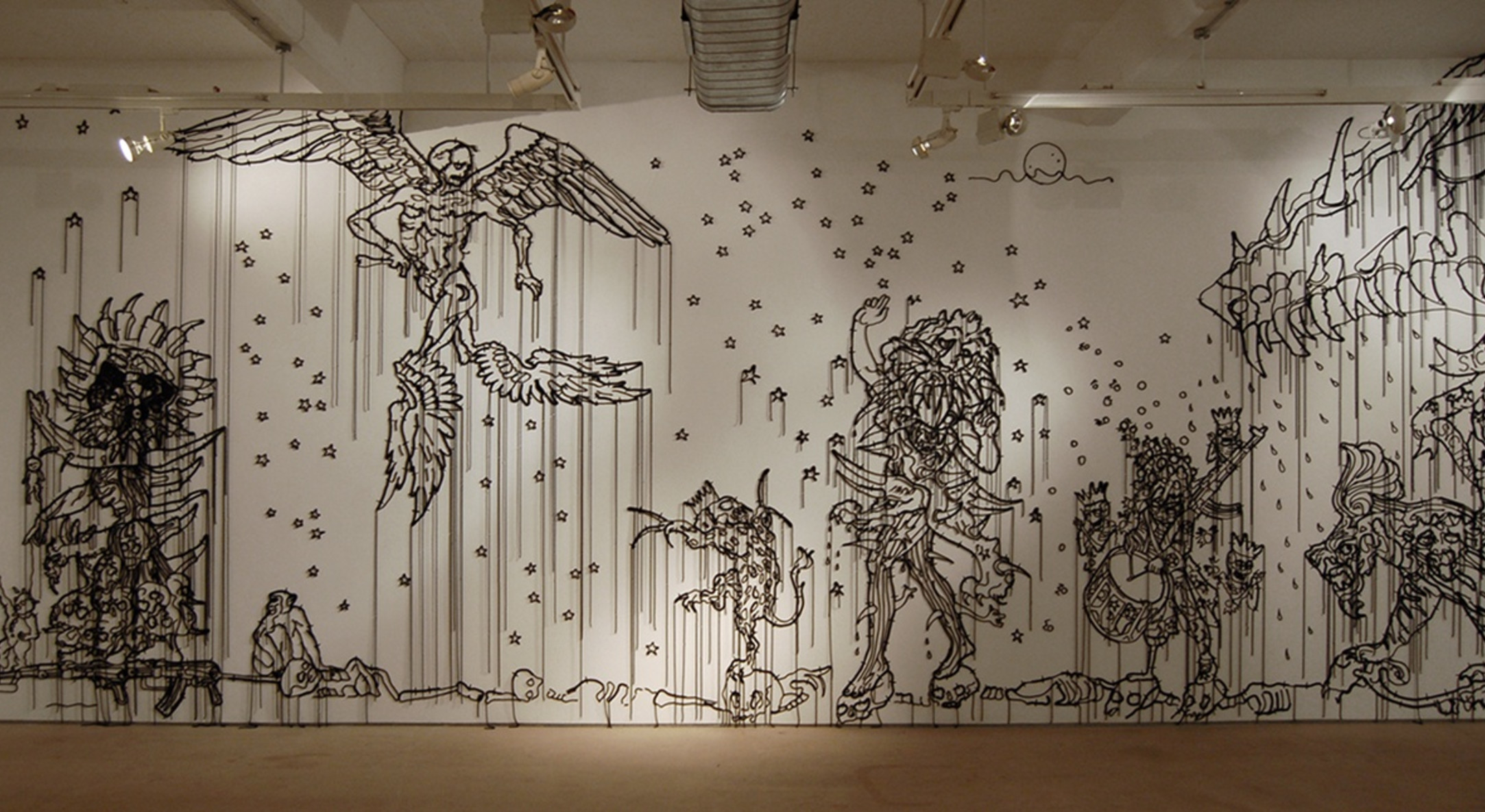 Installation view of Hew Locke The Nameless at Hales Gallery London, 2010