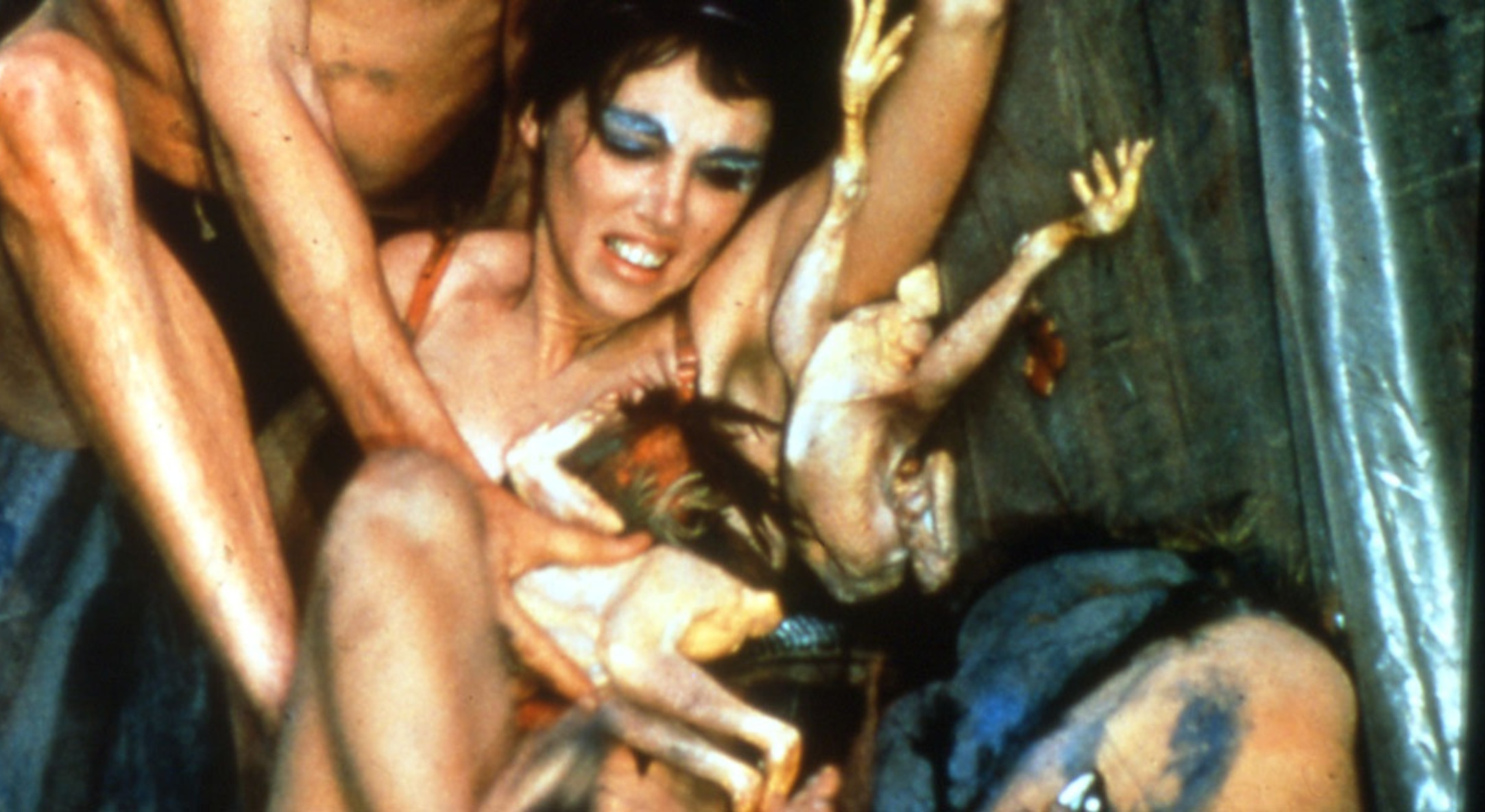 Carolee Schneemann, 'Meat Joy', 1964. Photograph of performance at Judson Church, NYC [photograph taken by Al Giese].