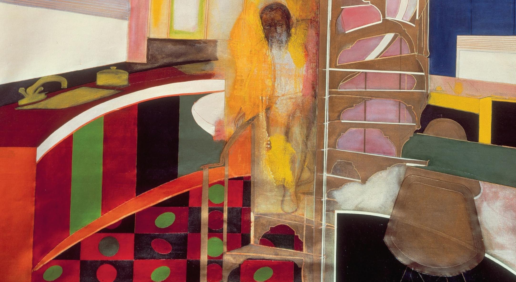 Frank Bowling, 'Mirror' (image detail), 1966. TATE London.