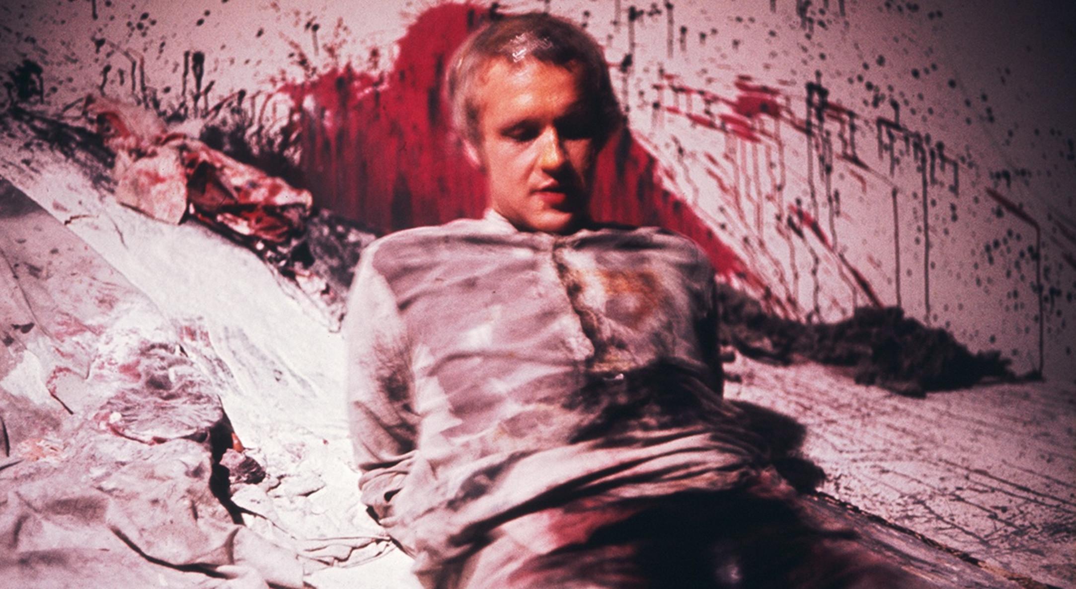 Stuart Brisley, Artist as Whore, 1972, Performance, Gallery House, London. Image courtesy of the Artist and Hales Gallery London. Copyright of the Artist