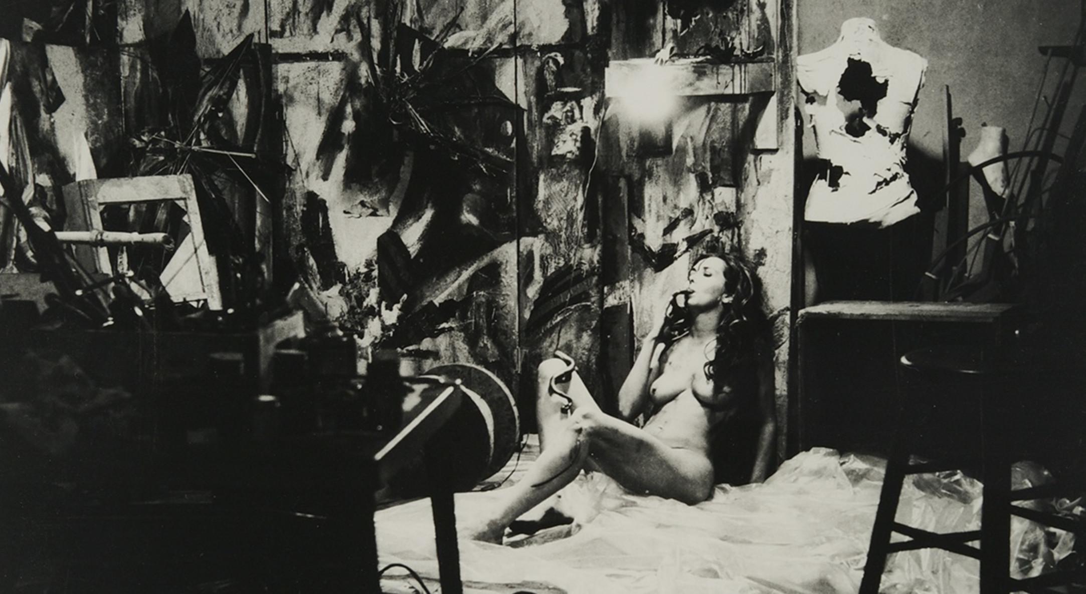 Detail of Carolee Schneemann, Eye Body #2, 1963/2005, gelatin silver print, 60.96 x 50.8 cm, 24 x 20 in