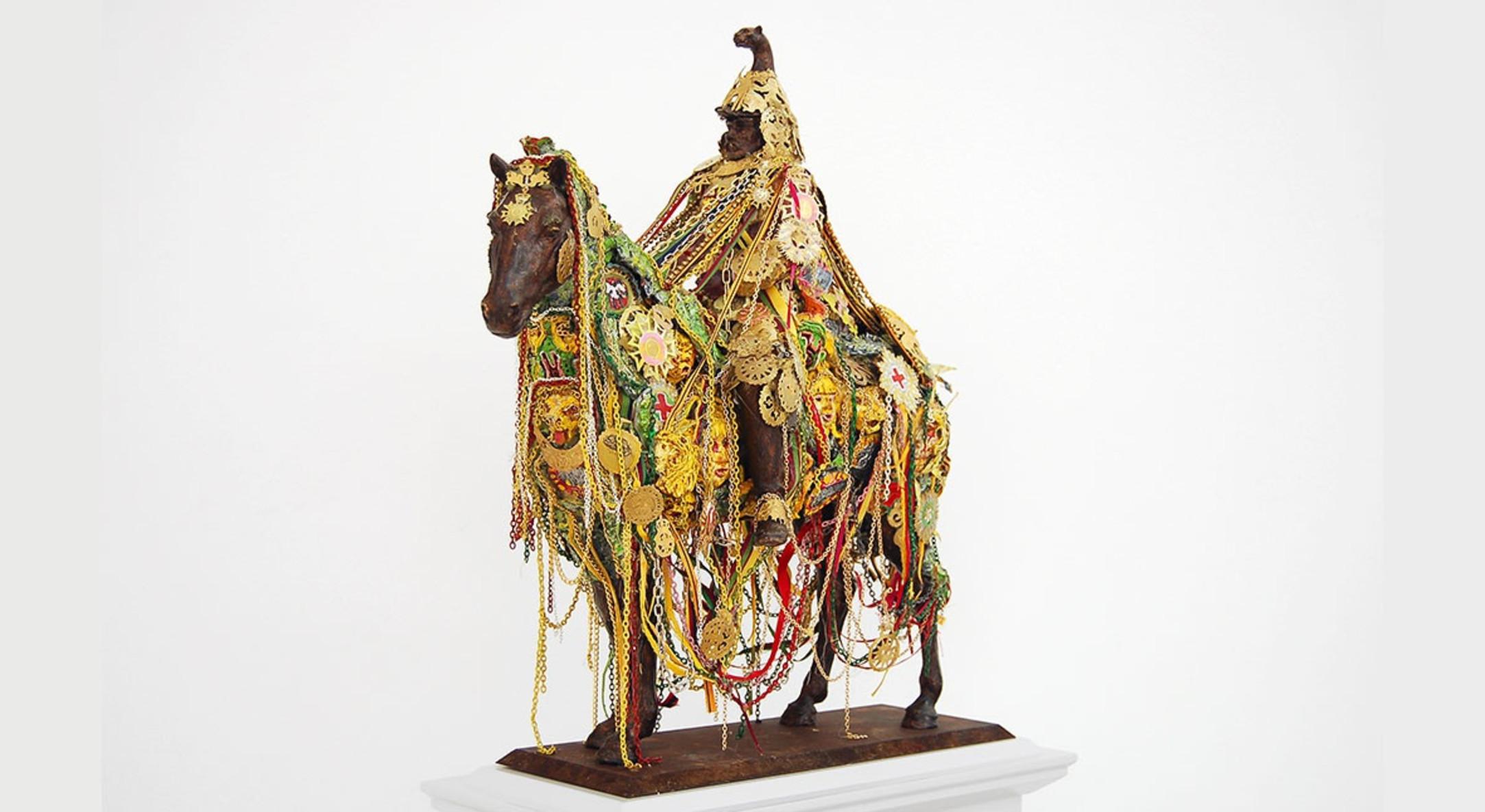 Hew Locke, Sikandar, 2010, Mixed media, 30 x 60 x 40 cm, 11 3/4 x 23 5/8 x 15 3/4 in