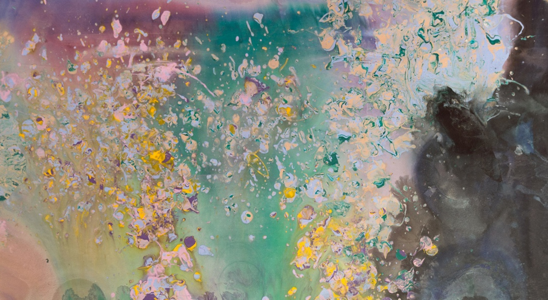 Detail of Frank Bowling, Moby Dick, 1981, Acrylic on canvas, 250.5 x 189 cm, 98 5/8 x 74 3/8 in