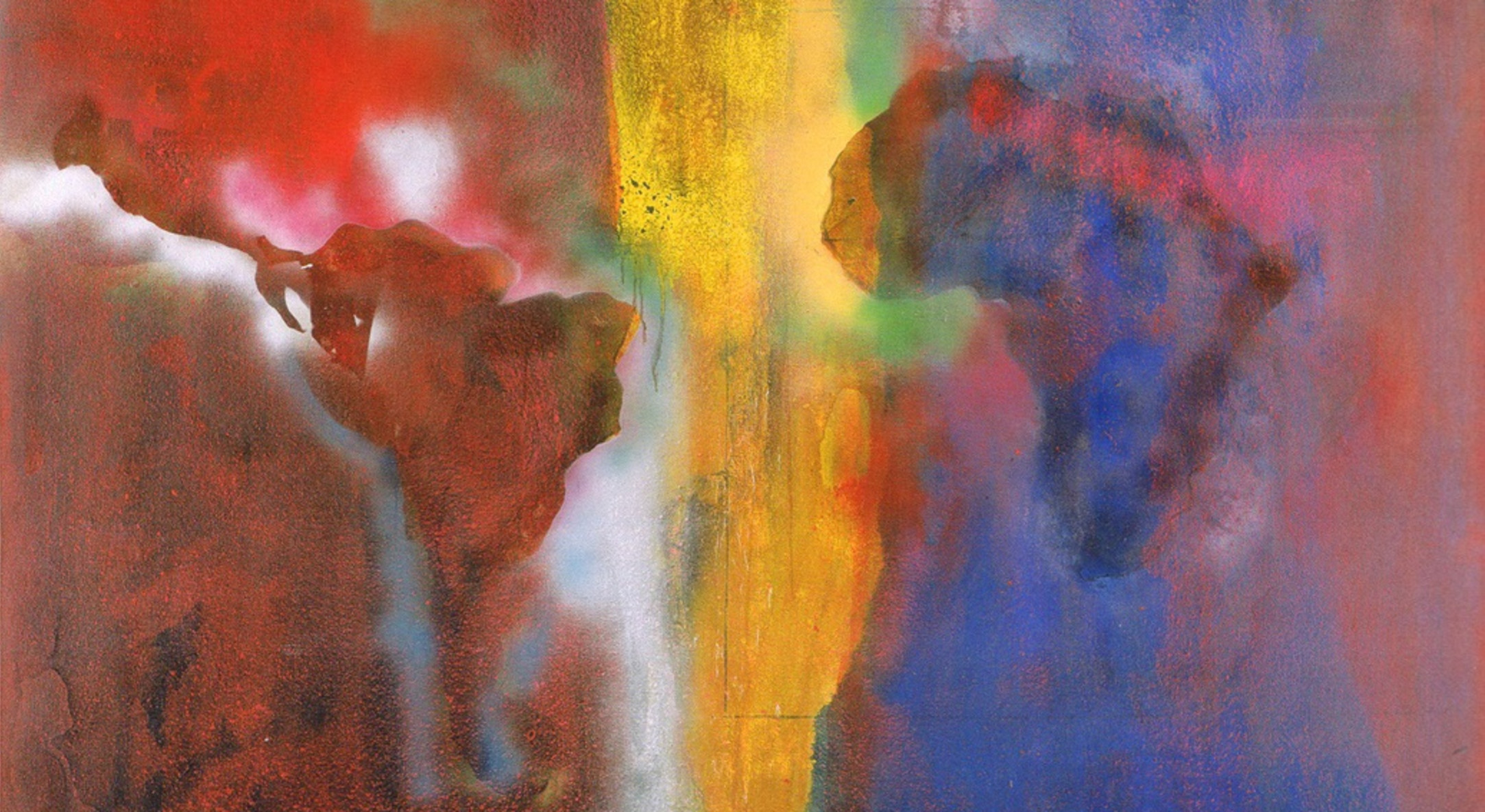 Detail of Frank Bowling, Night Journey, 1968-69, Acrylic on canvas, 328 x 269 cm, 129 1/8 x 105 7/8 in