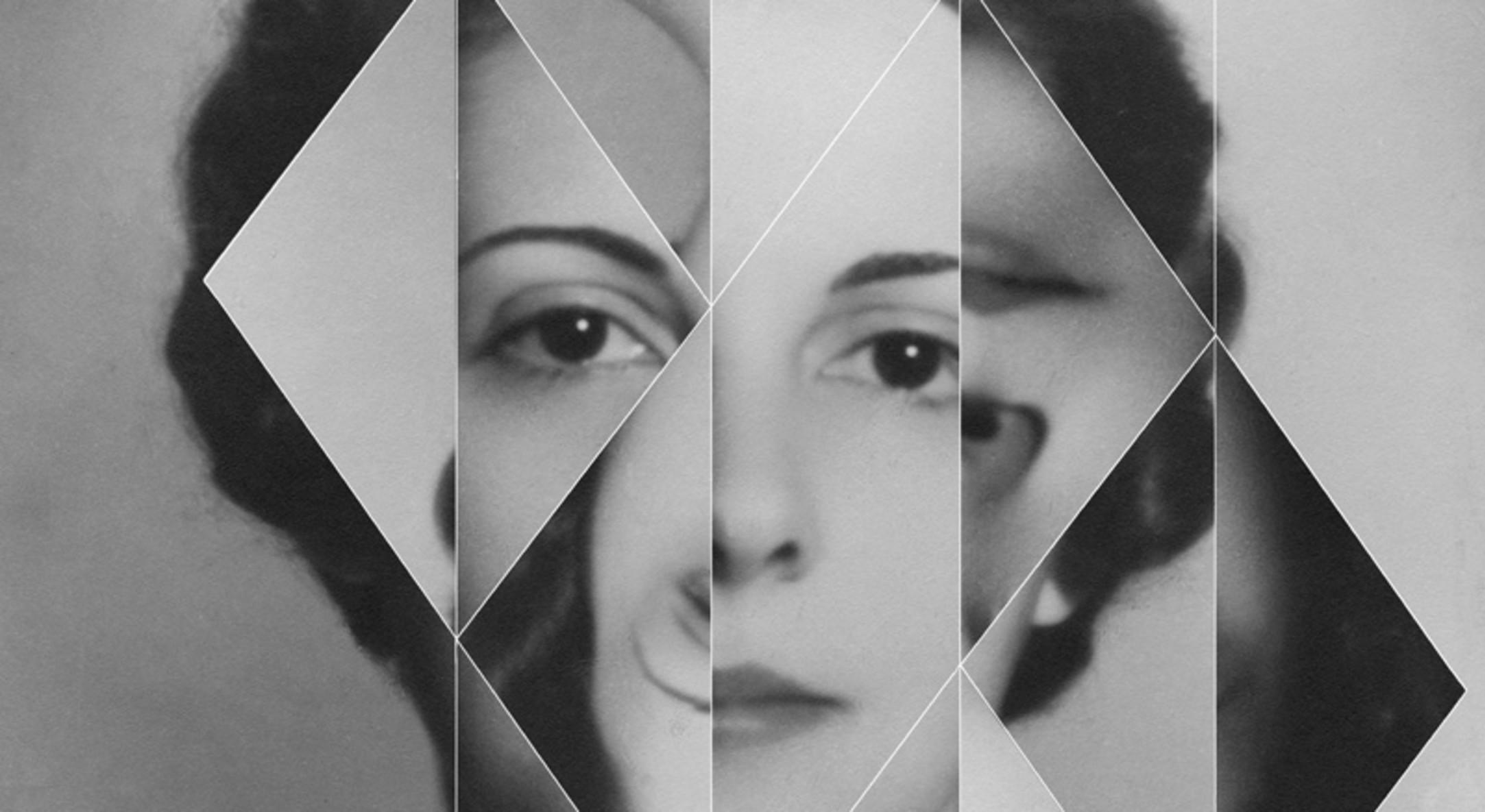 "Detail of Andrea Geyer, Constellations (María Teresa de Rojas ""Titina""), 2018, Hand-cut archival print on rag paper, 80 x 59.1 cm, 31 1/2 x 23 1/4 in"