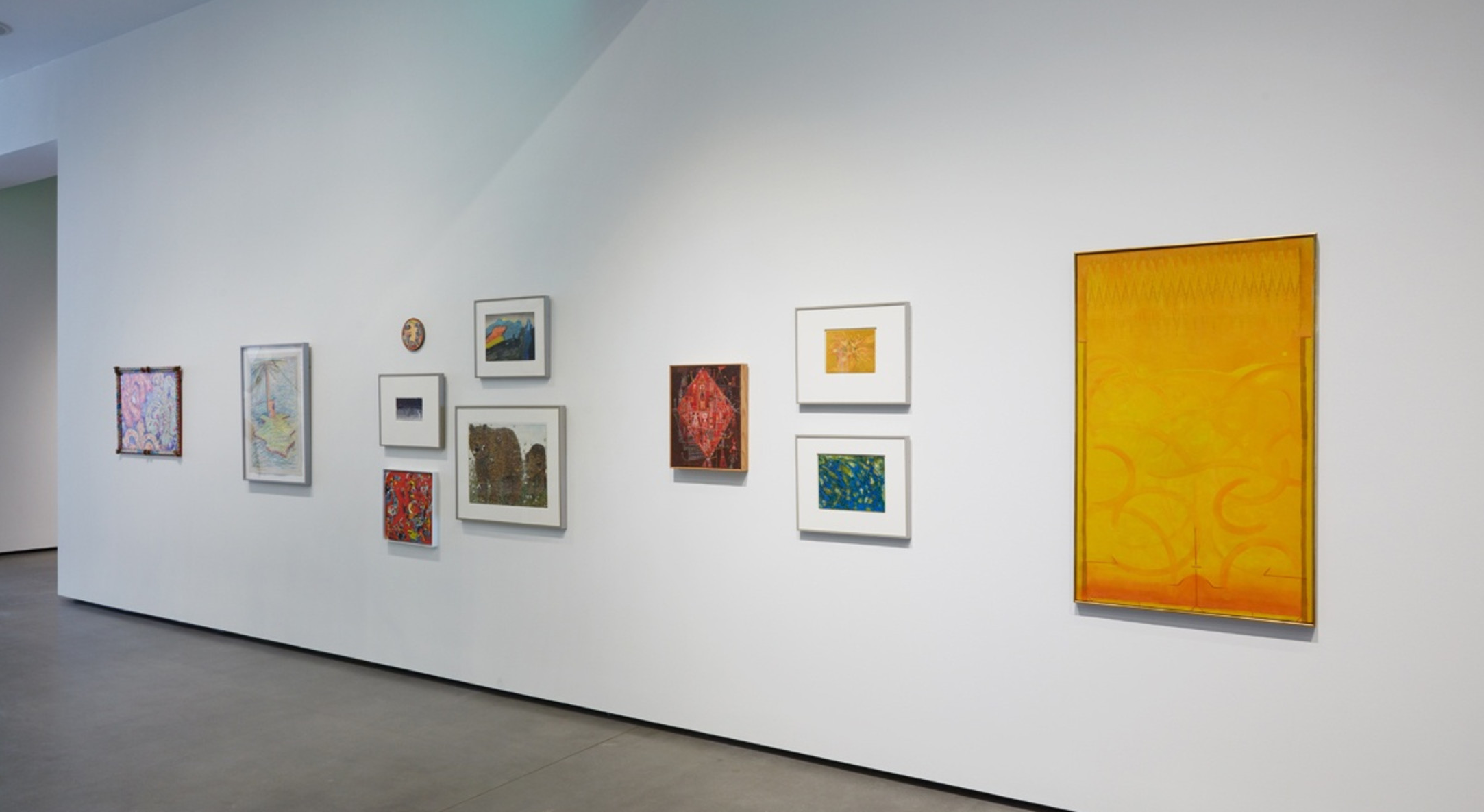 Installation view of Gladys Nilsson, Landscape Without Boundaries: Selections from the Jan Shrem and Maria Manetti Shrem Museum of Art