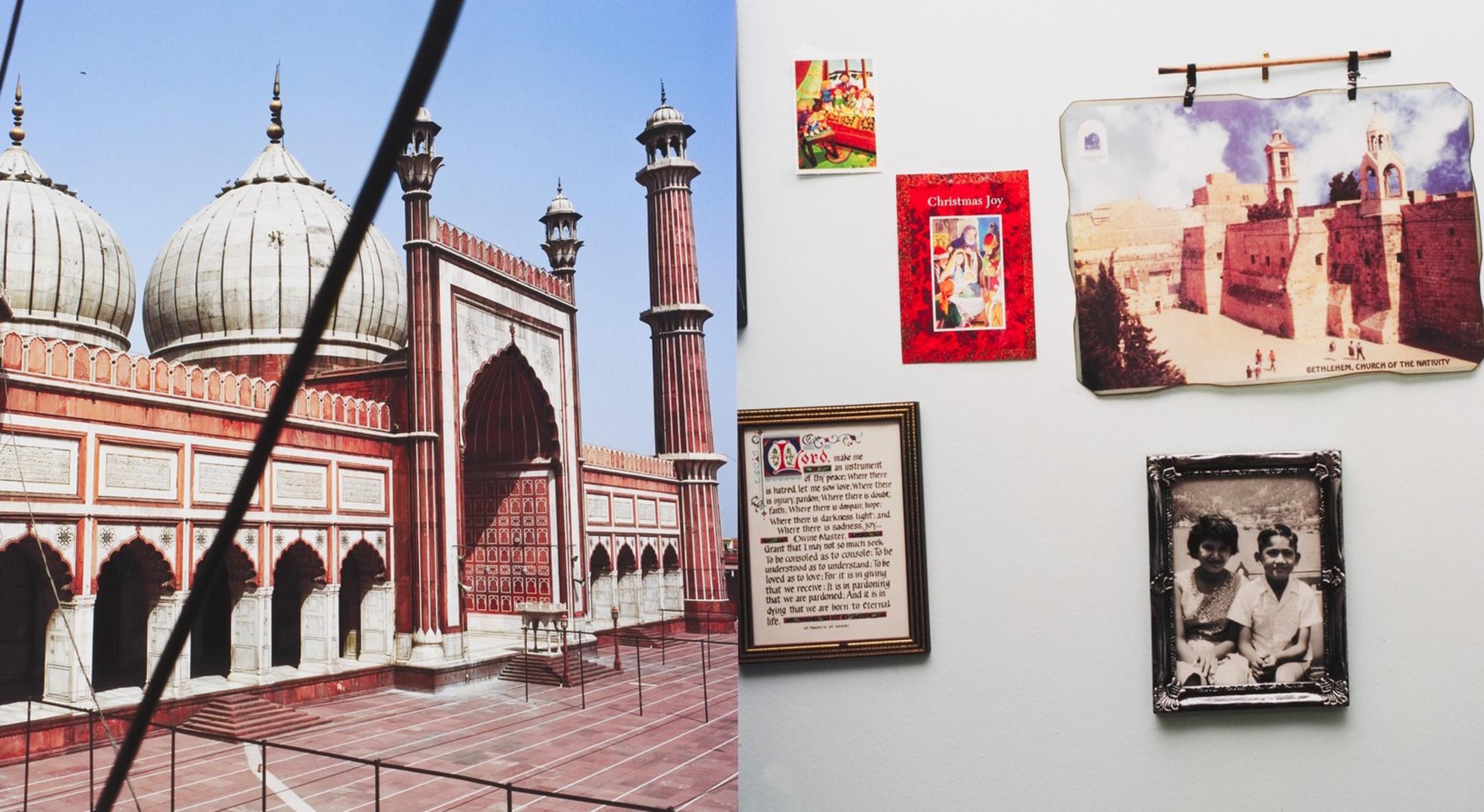 Sunil Gupta, Jama Masjid, Delhi/Boulevard René Lévesque Ouest, Montréal, 2001-2003, (detail)