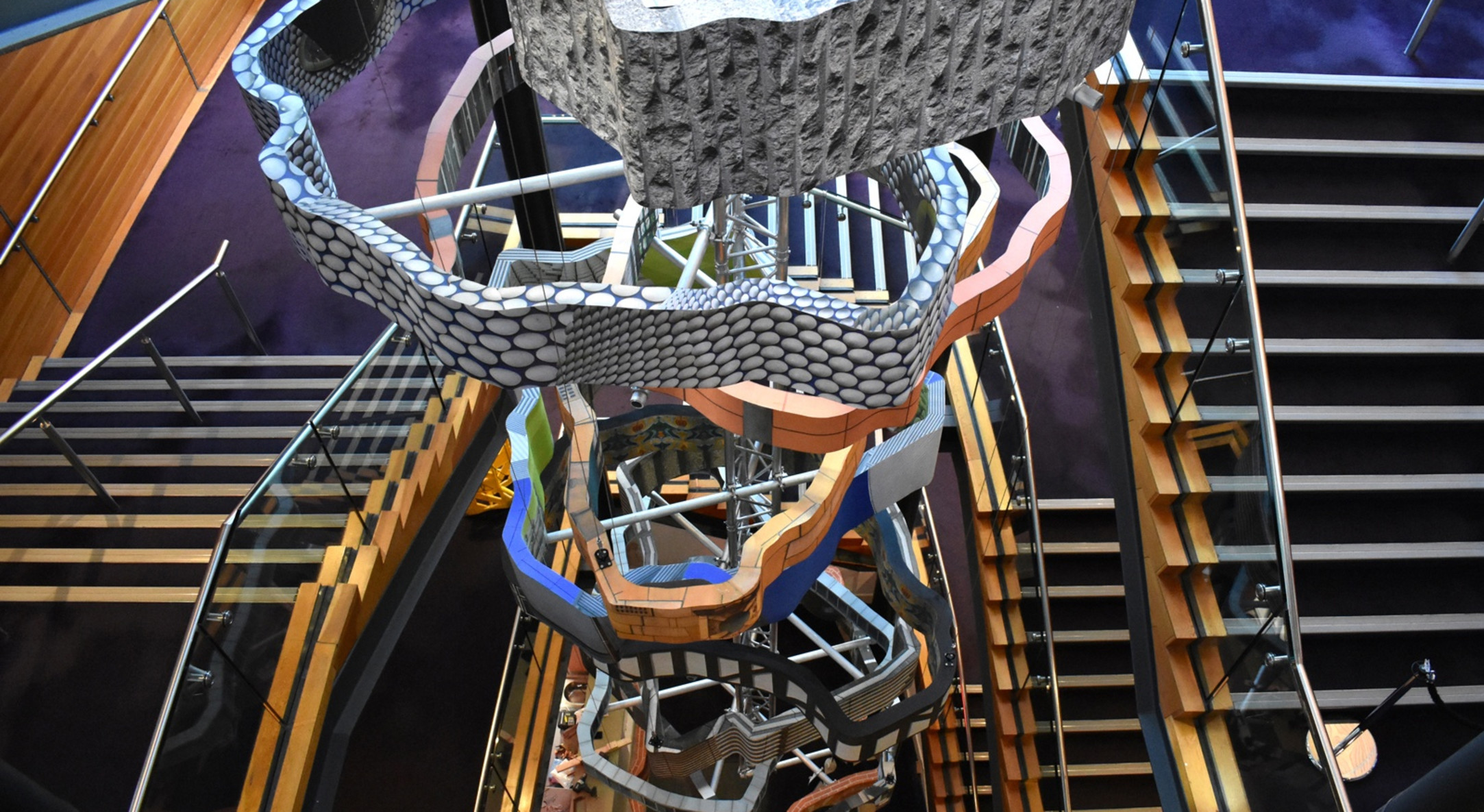 Installation view of Rachael Champion's Tower of Varieties, Birmingham Hippodrome, 2019