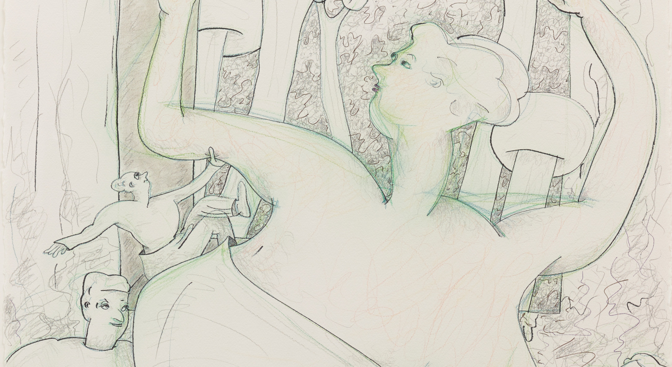 Detail of Gladys Nilsson, A Window #3, 2014