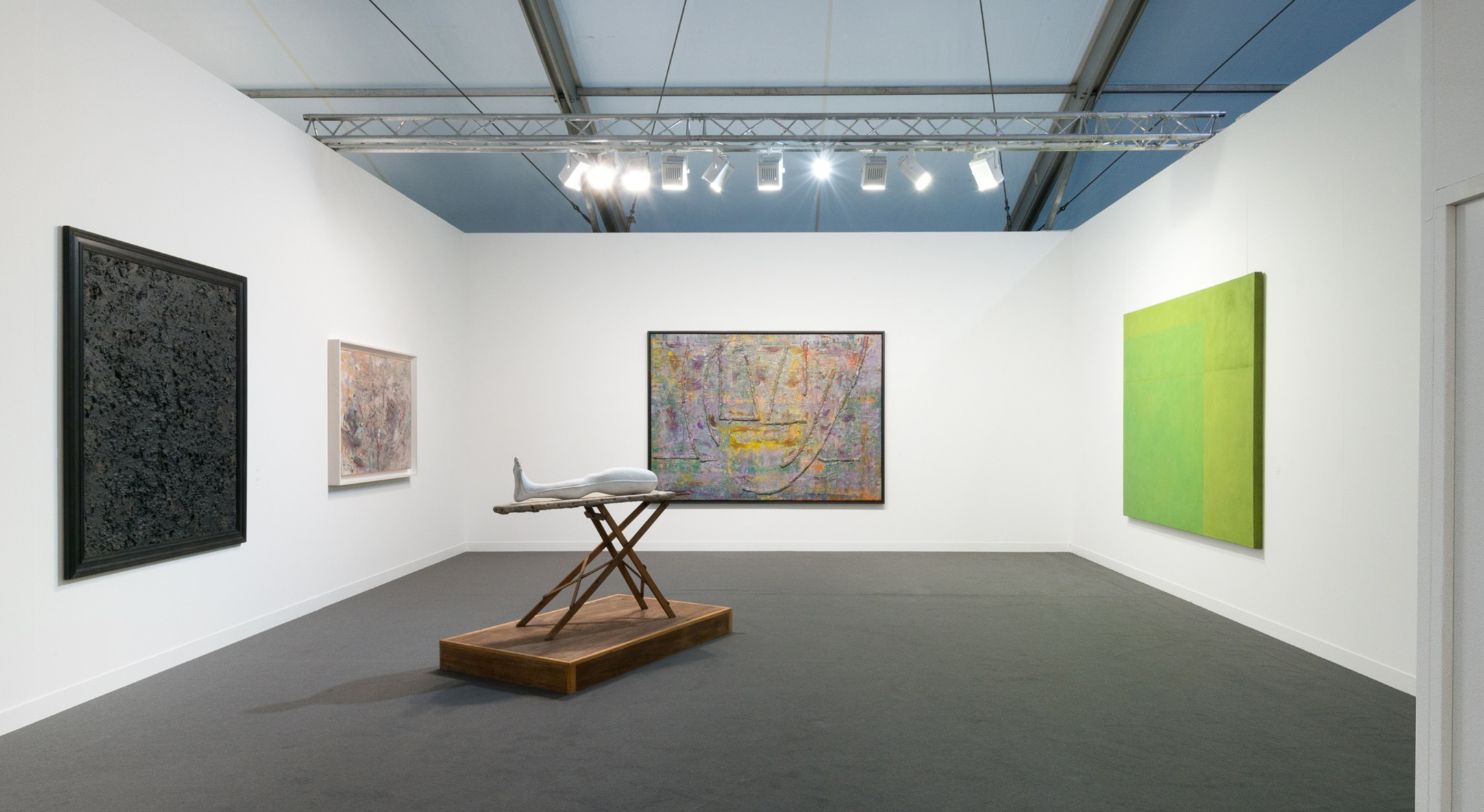 Installation view of Hales Gallery Booth at Frieze London 2017