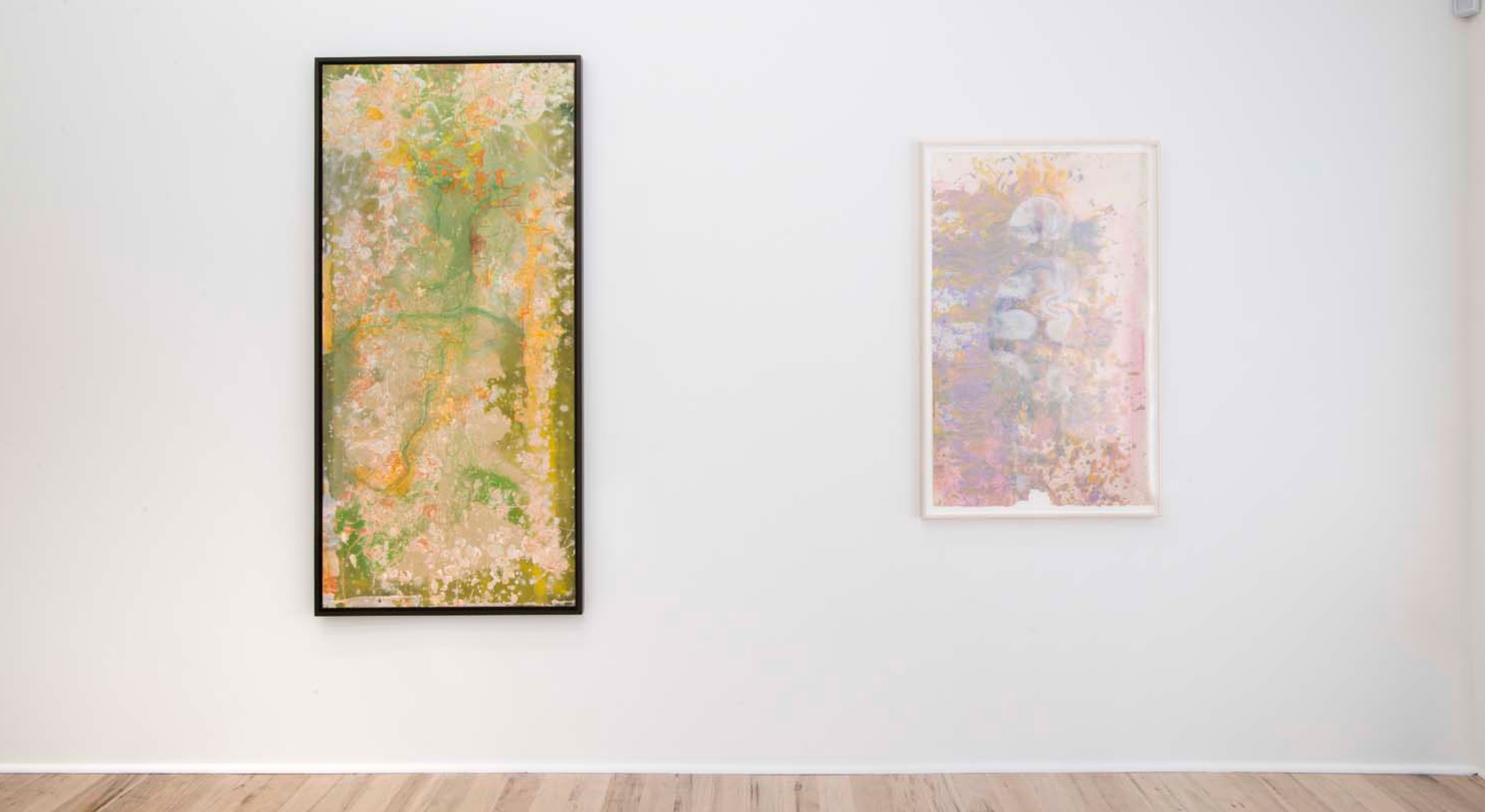 Installation view of Frank Bowling, Metropolitanblooms at Hales Project Room New York, 2017