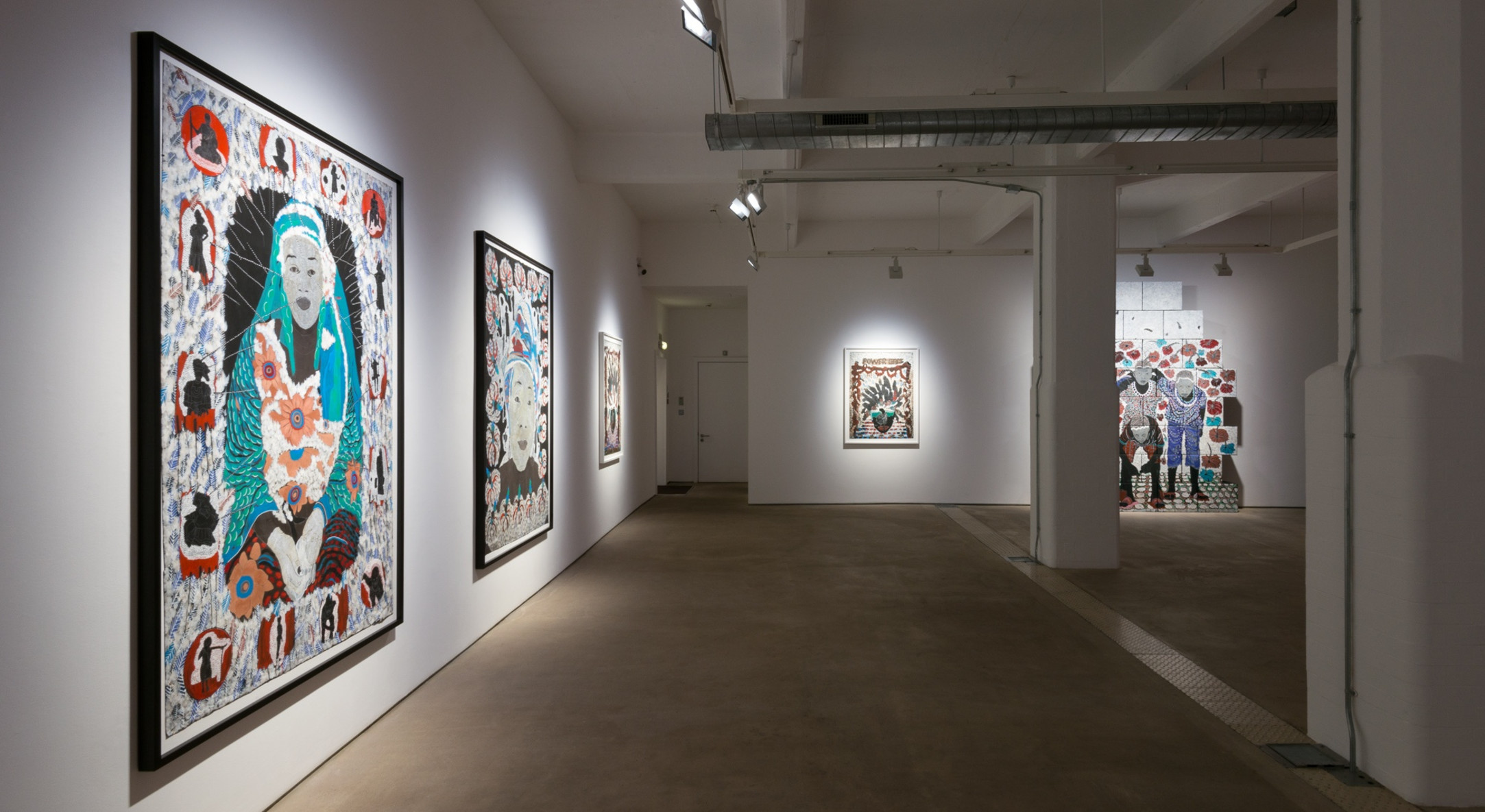Installation view of Omar Ba, Supernova at Hales London