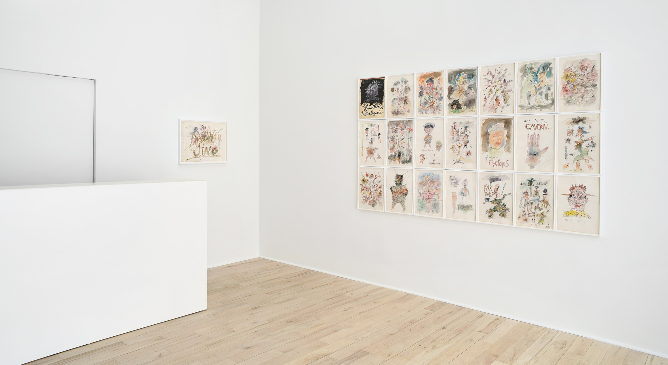 Installation view of Jeff Keen Cineblatz at Hales Gallery Project Room New York, 2018