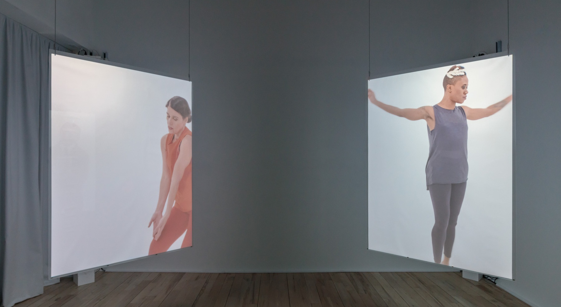 Installation view of Andrea Geyer, Truly Spun Never at Hales Project Room, New York
