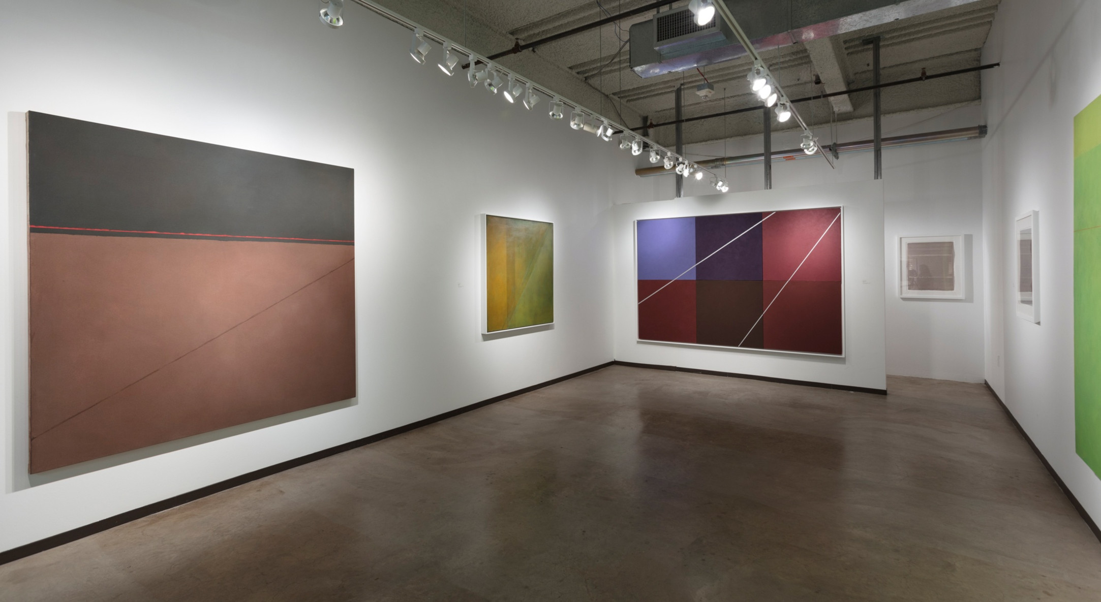 Installation View of Hales Project Room Booth at Dallas Art Fair 2018