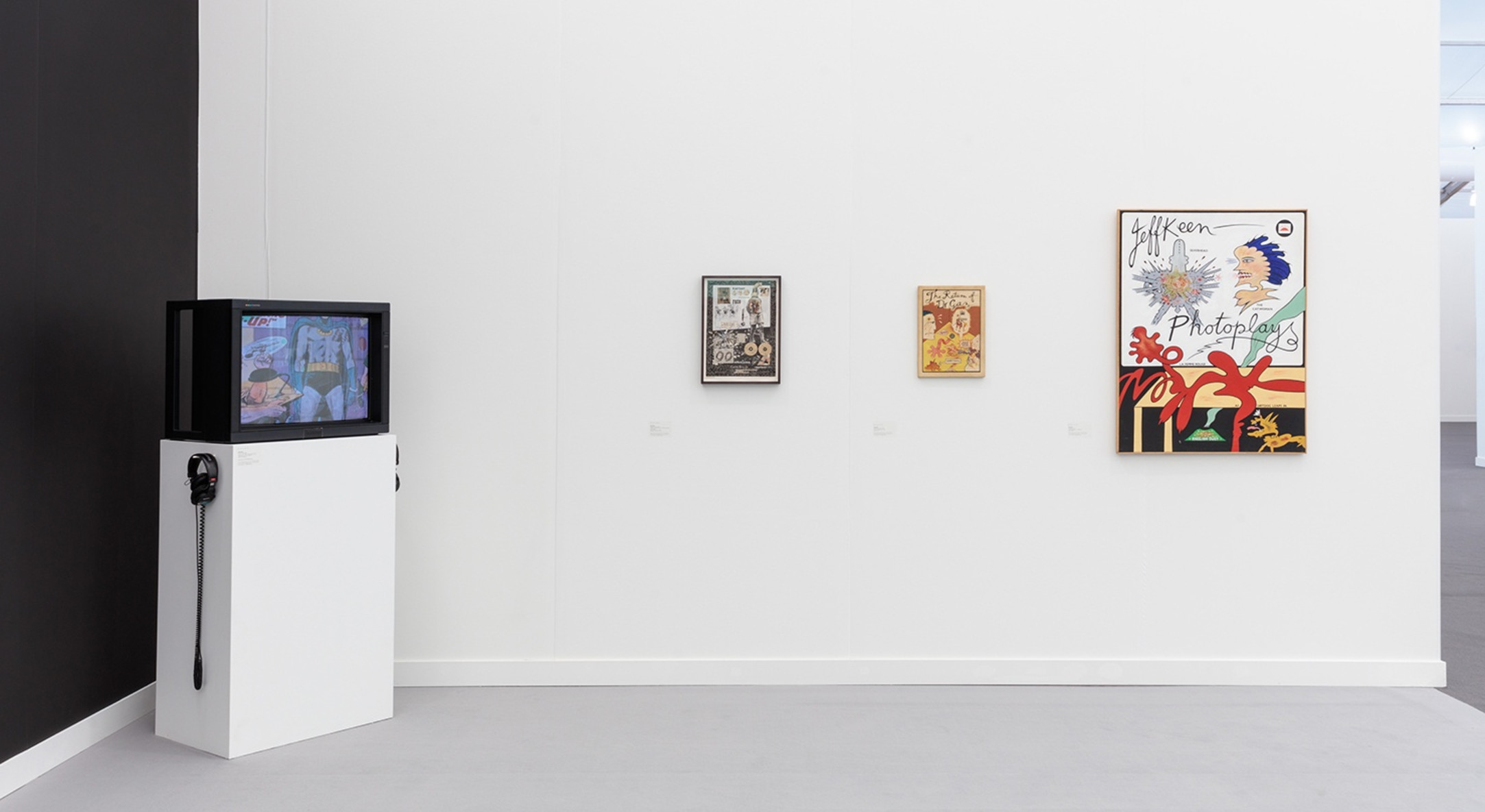 Installation view of Hales Gallery booth, Spotlight: Jeff Keen, at Frieze New York 2018