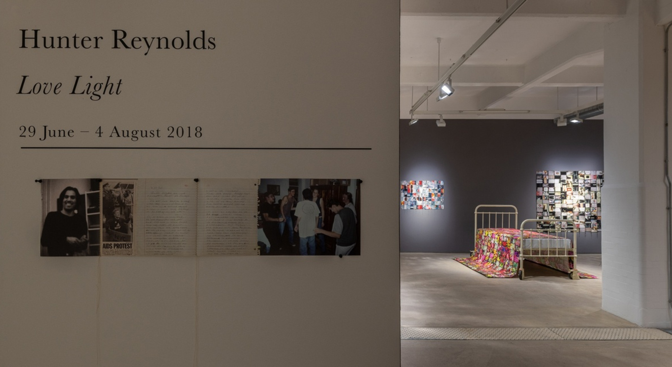 Installation view of Hunter Reynolds, Love Light at Hales london