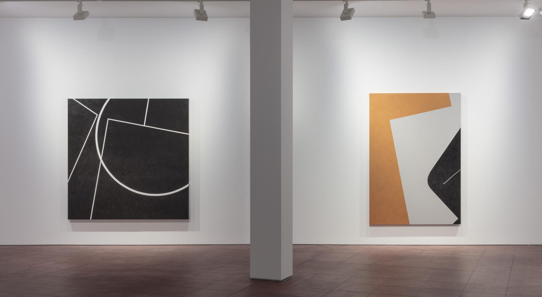 Installation view of Virginia Jaramillo, Foundations at Hales New York