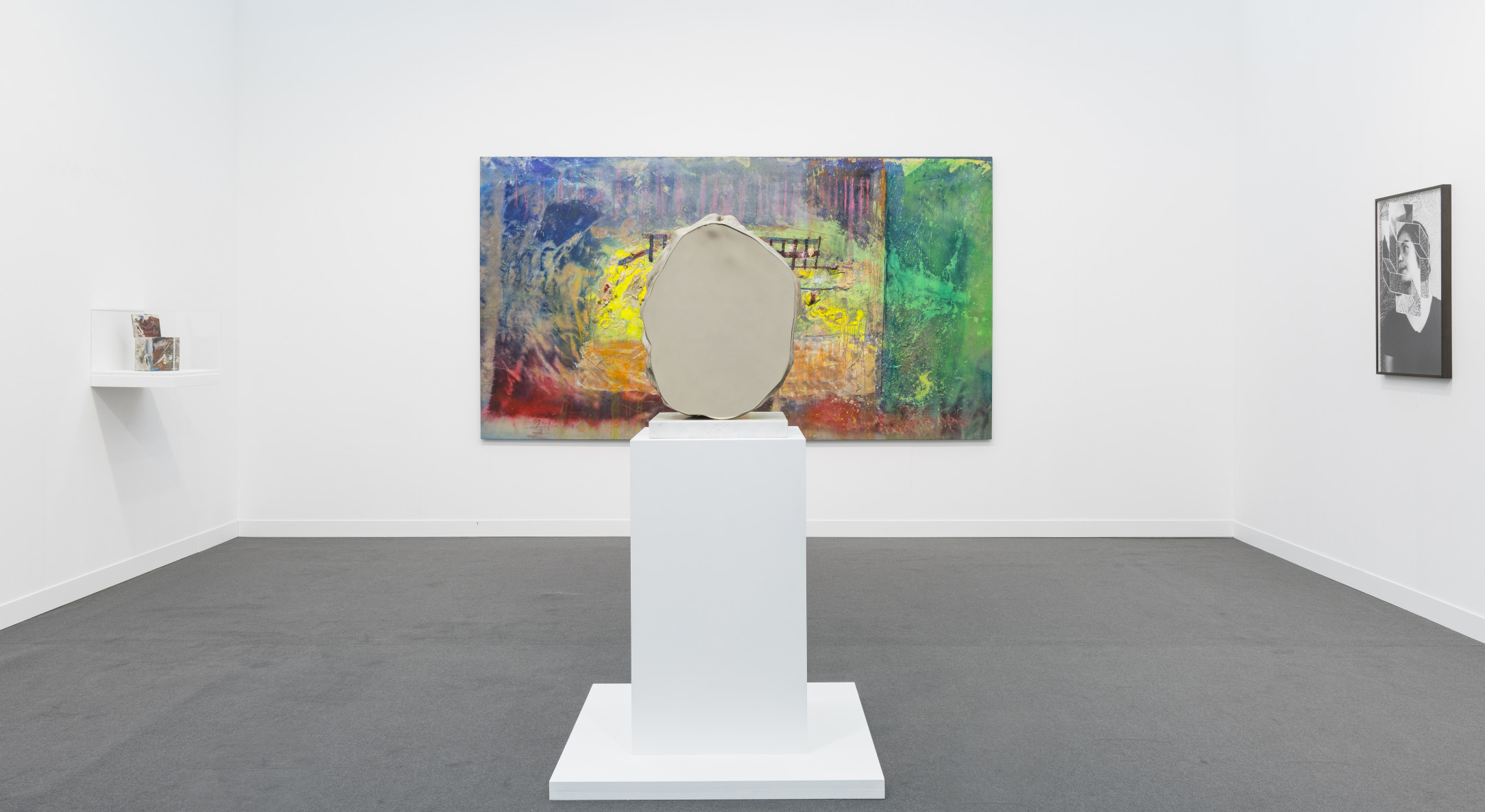 Installation view of Hales Gallery booth at Frieze London 2018