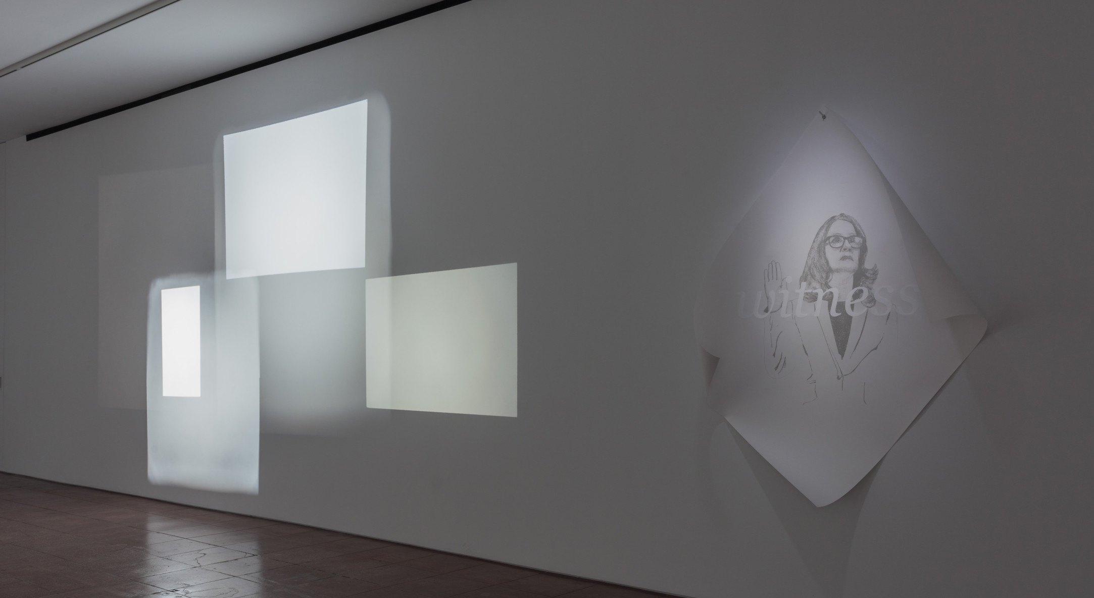 Installation view of Andrea Geyer, On this day, at Hales New York