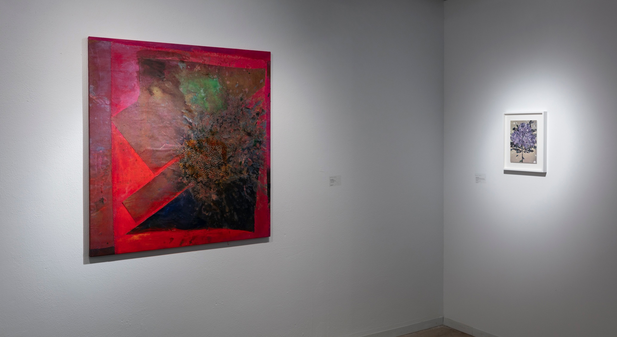 Installation view of Hales Gallery booth at Dallas Art Fair 2019