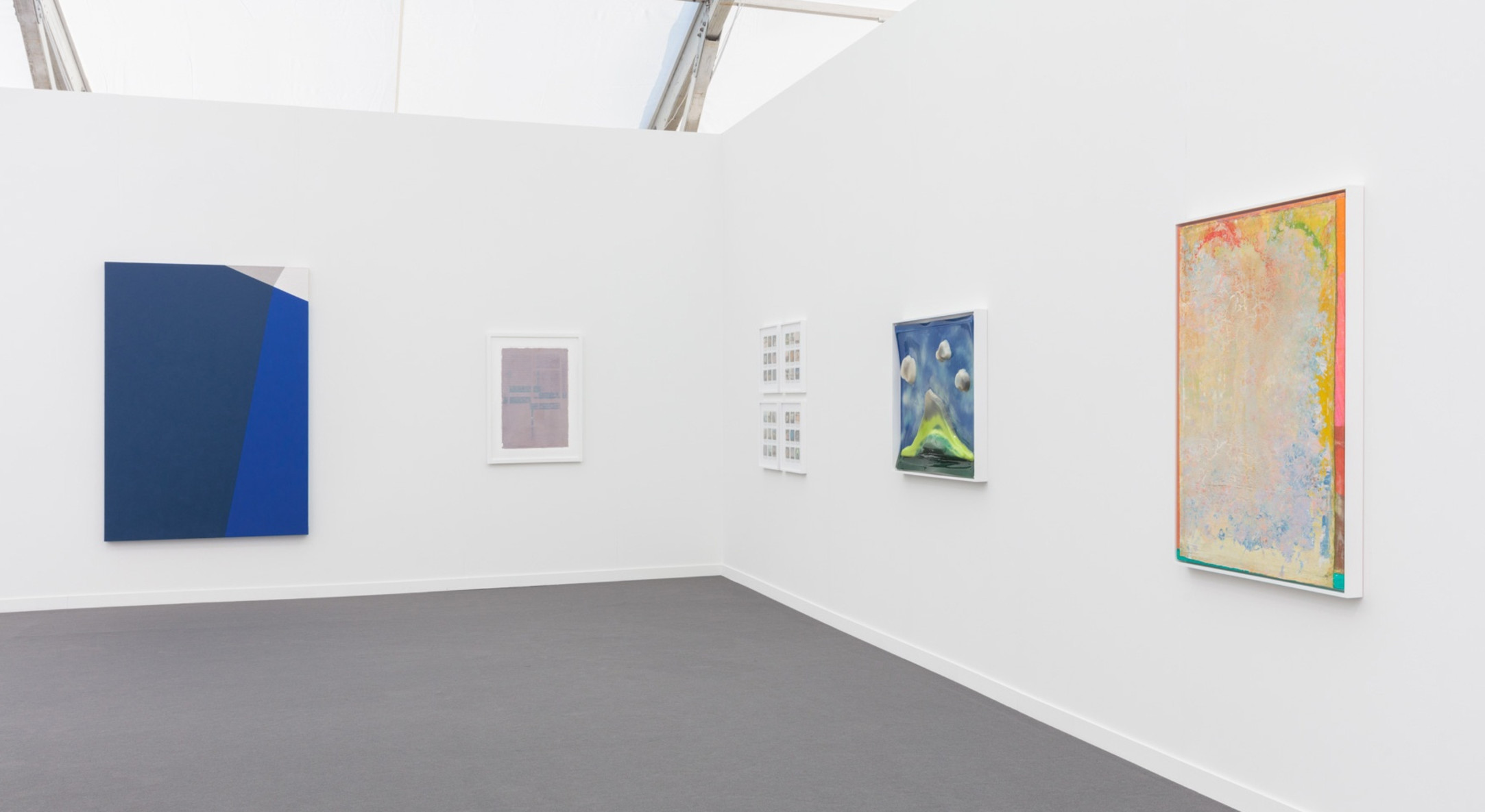 Installation view of Hales Gallery booth at Frieze New York 2019