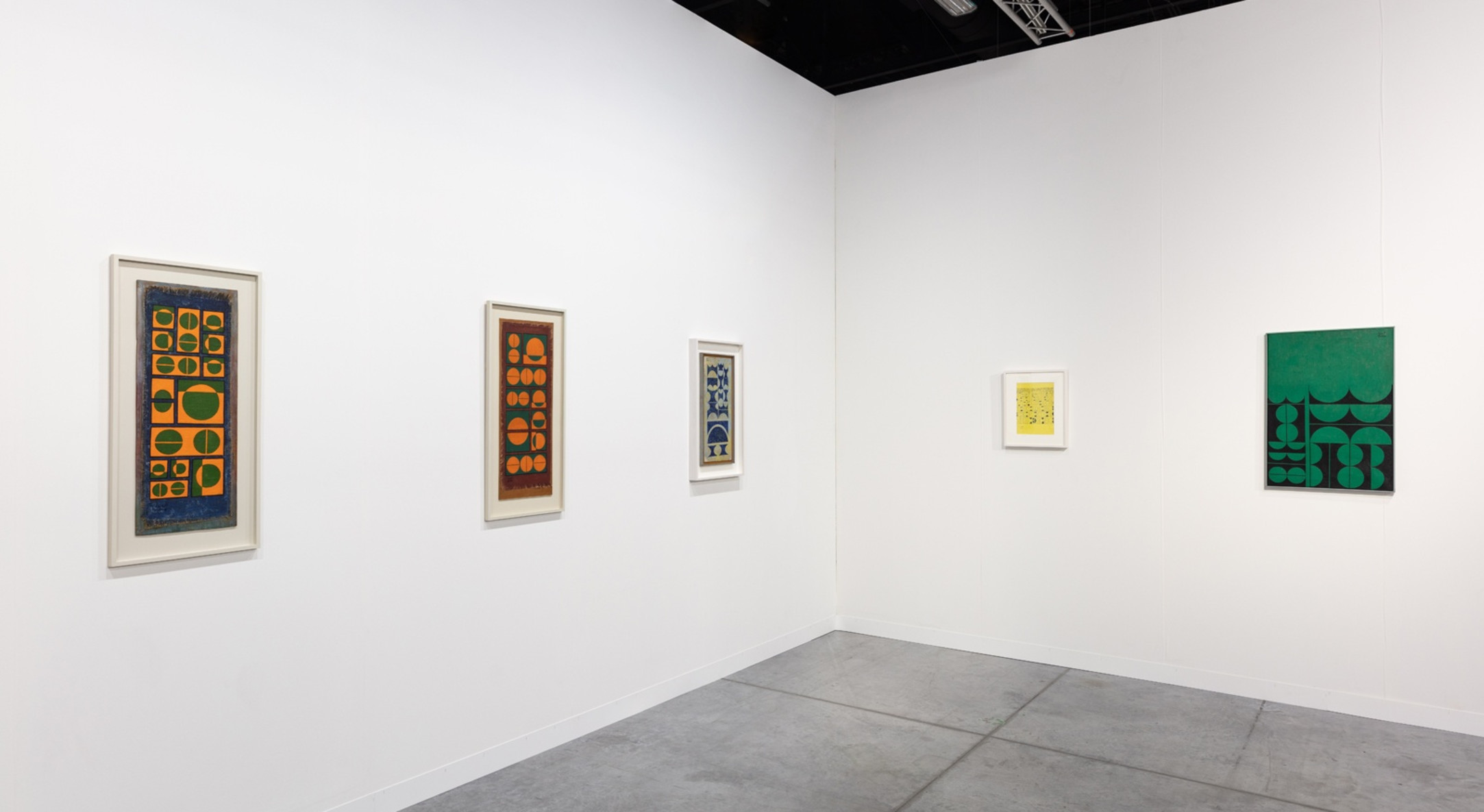 Installation view of Hales Gallery booth, Survey: Anwar Jalal Shemza, at Art Basel Miami Beach 2019