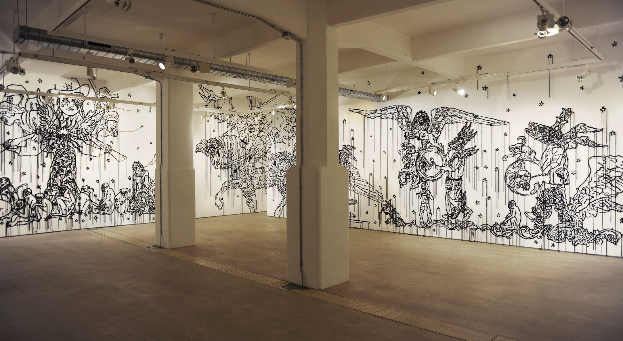 Installation view of Hew Locke, The Nameless, at Hales London