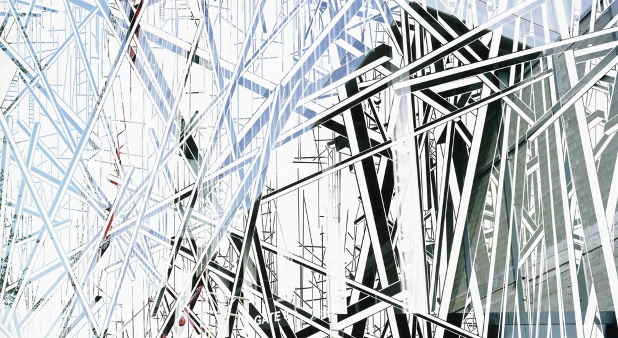 Richard Galpin, Brace II (City Gate), 2011, peeled photograph, 95 x 109 cm, 37 3/8 x 42 7/8 in