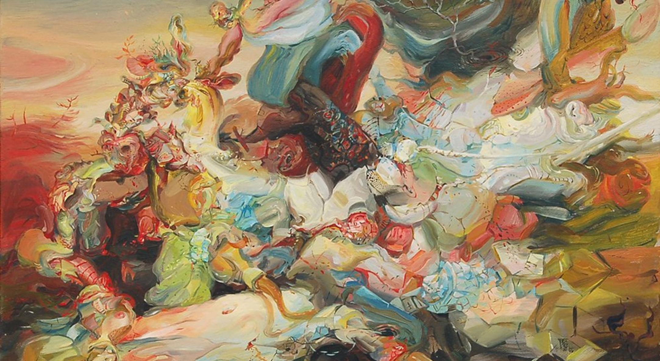 Darina Karpov, Dawn, 2010, Oil on canvas 22.2 x 25.4 cm, 8.75 x 10 in