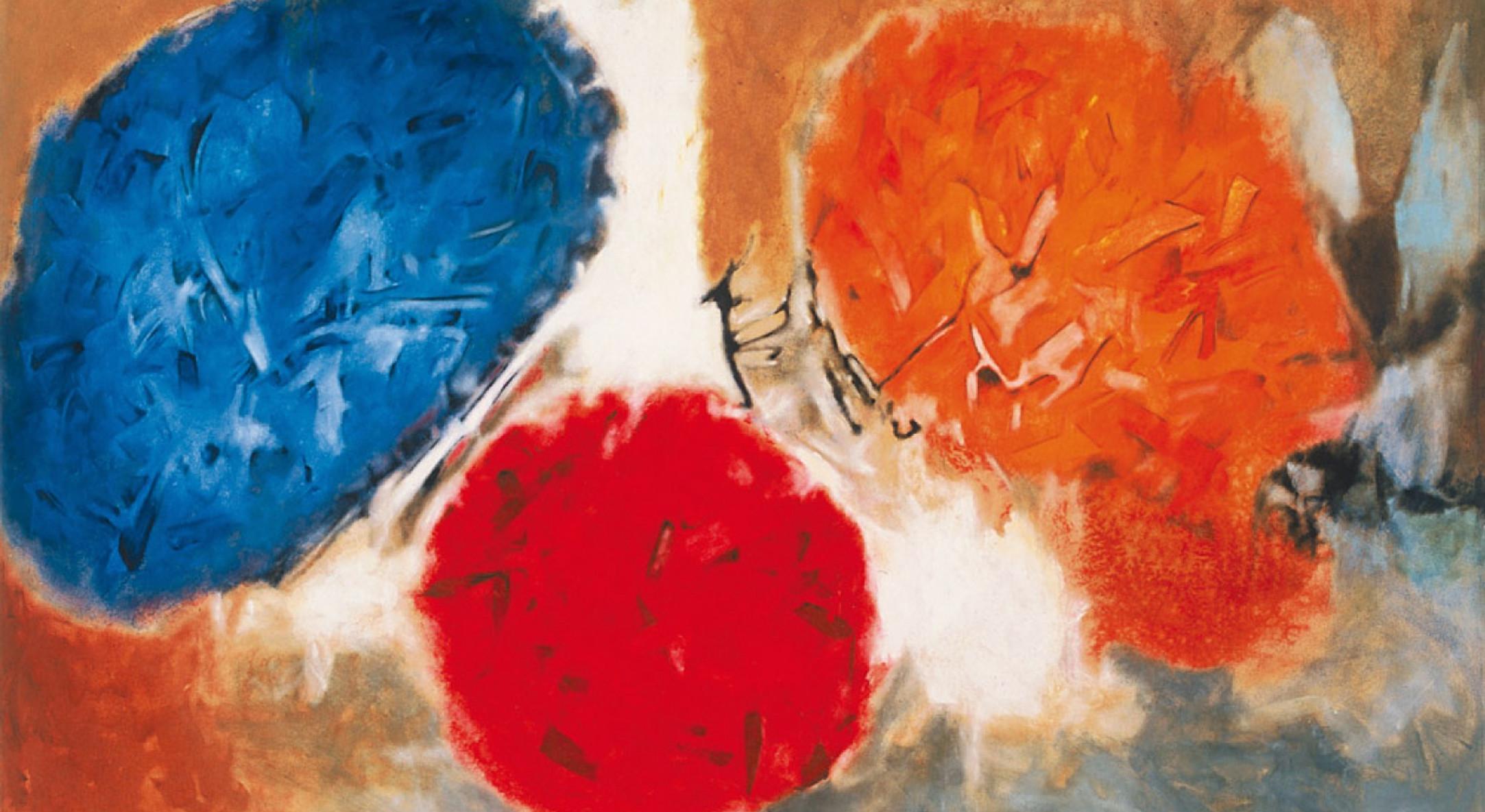 Aubrey Williams, Shostakovich 10th Symphony, Opus 93, 1981, Oil on canvas, 163 x 245 cm, 64 1/8 x 96 1/2 in