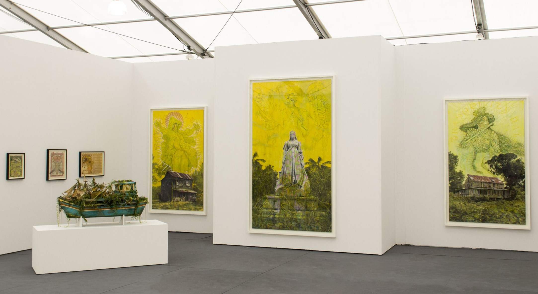 Installation view of Hales Gallery booth at Untitled Miami Beach 2013