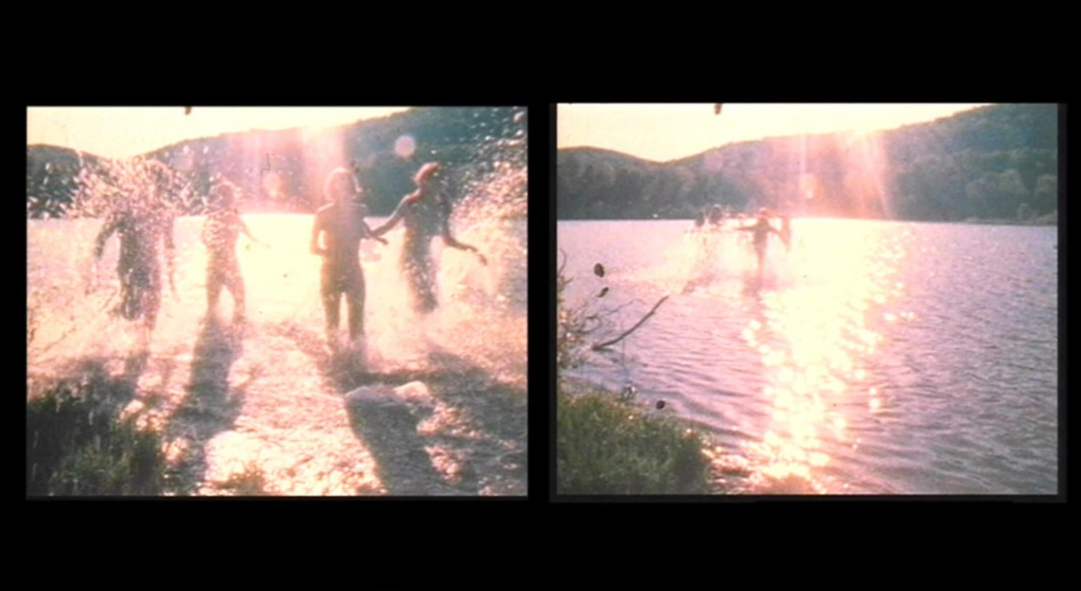 Carolee Schneemann, Water Light/Water Needle (Lake Mah Wah, NJ), 1966, 11:13 min, color, sound, 16 mm film on video, (film still)