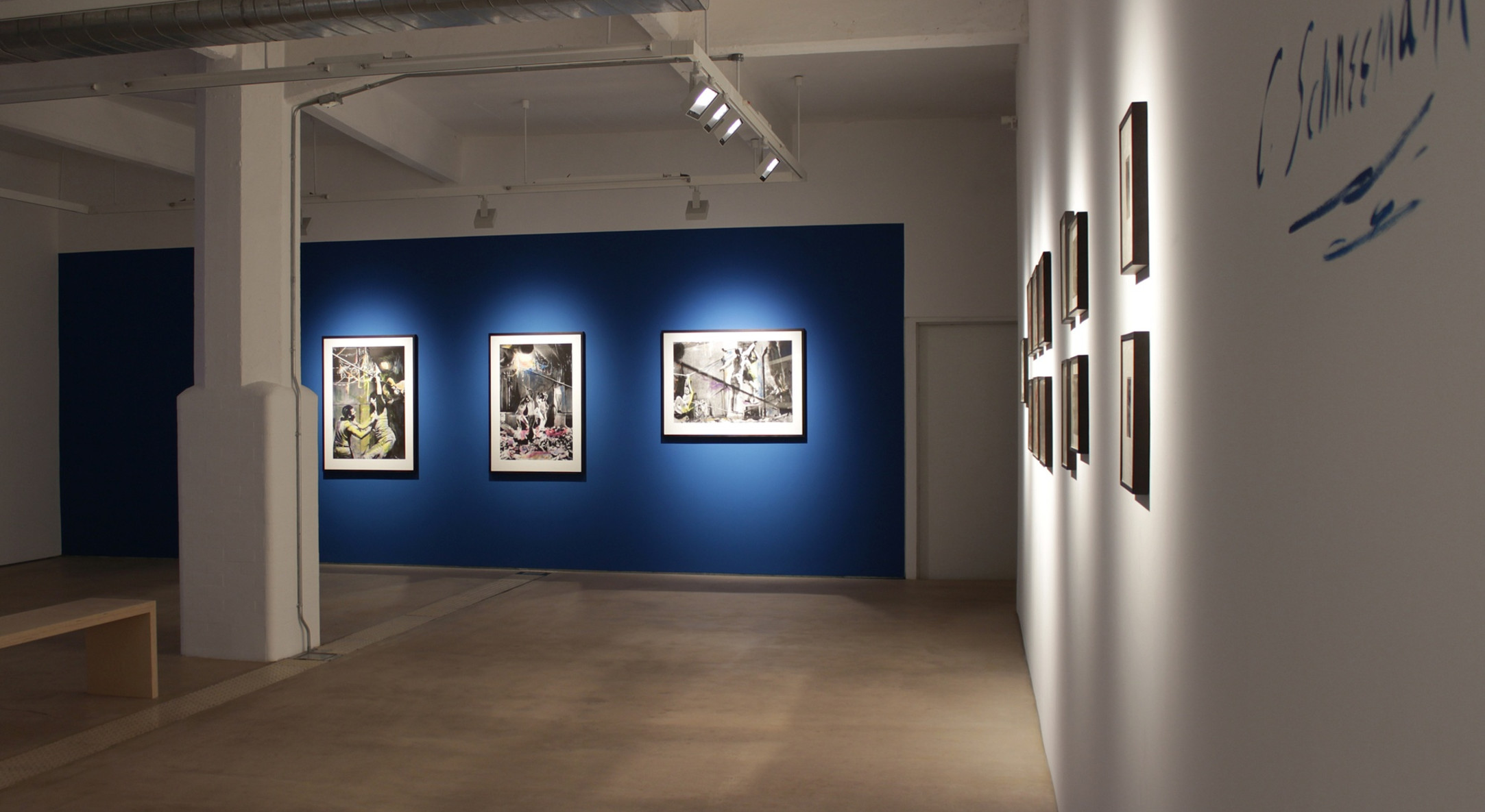 Installation view of Carolee Schneemann, Water Light / Water Needle at Hales London