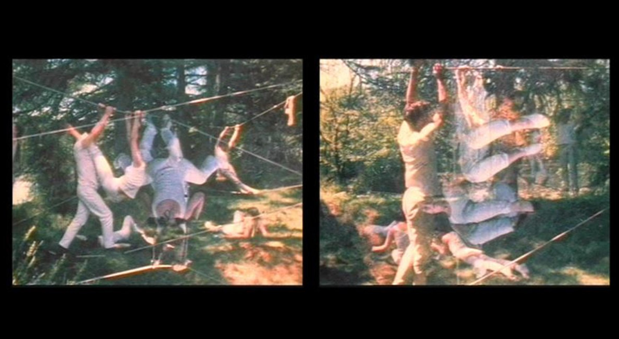Film still of Carolee Schneemann, Water Light/Water Needle (Lake Mah Wah, NJ), 1966, 11:13 min, colour, sound, 16 mm film on video