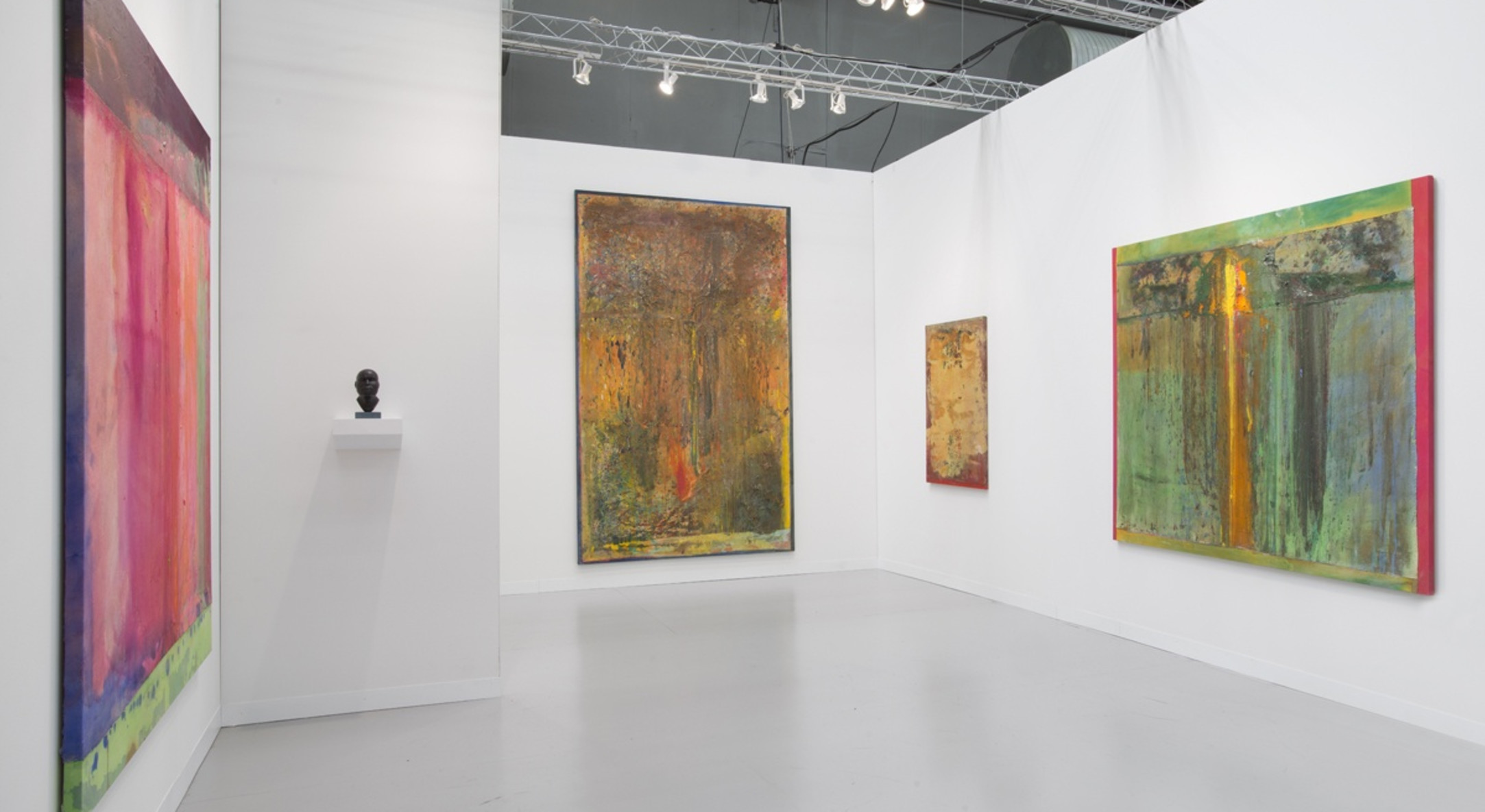 Installation view of Hales Gallery, Armory Show NYC 2014
