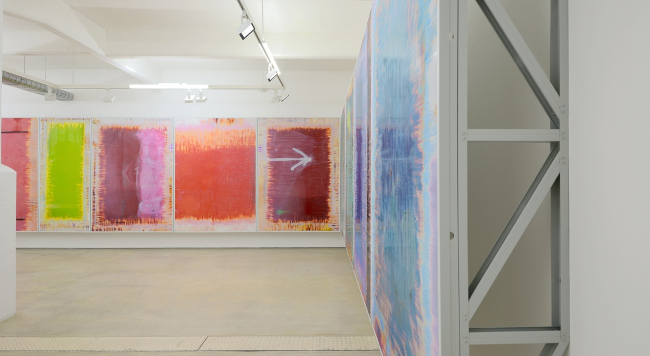 Installation view of Richard Galpin, Elephant (Ten Thousand Revolutions per Minute) at Hales London